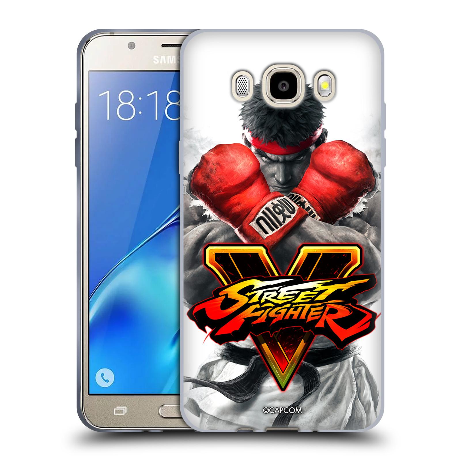 HEAD CASE silikonový obal na mobil Samsung Galaxy J5 2016 (J510) oficiální kryt STREET FIGHTER Boxer Ryu