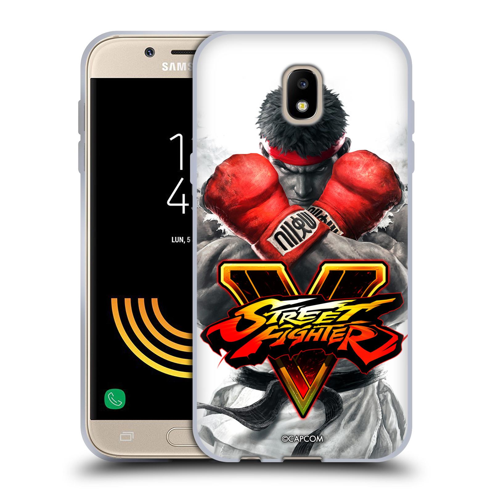 HEAD CASE silikonový obal na mobil Samsung Galaxy J5 2017 oficiální kryt STREET FIGHTER Boxer Ryu