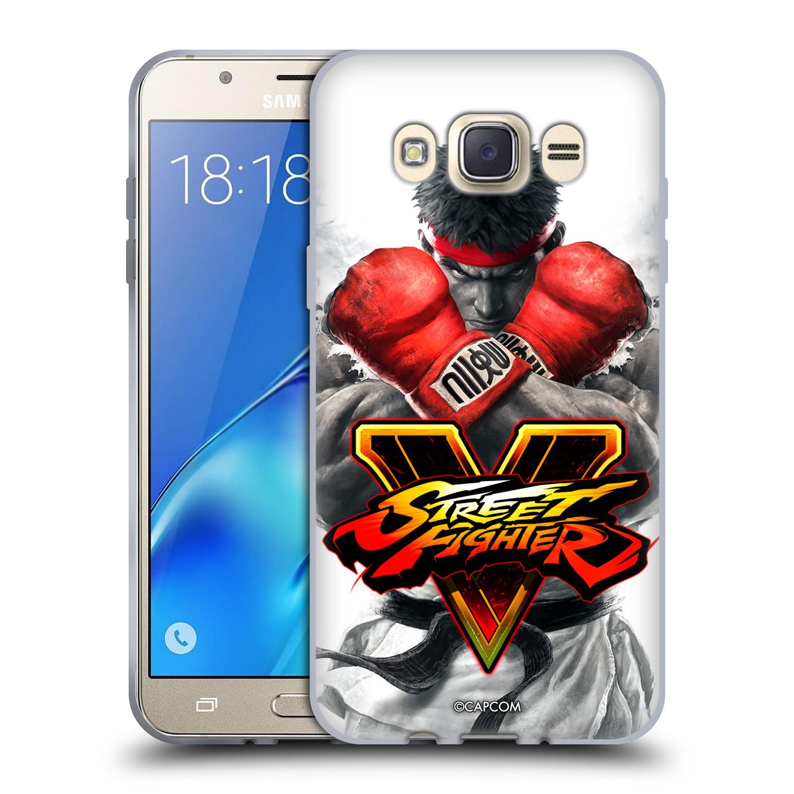 HEAD CASE silikonový obal na mobil Samsung Galaxy J7 2016 oficiální kryt STREET FIGHTER Boxer Ryu