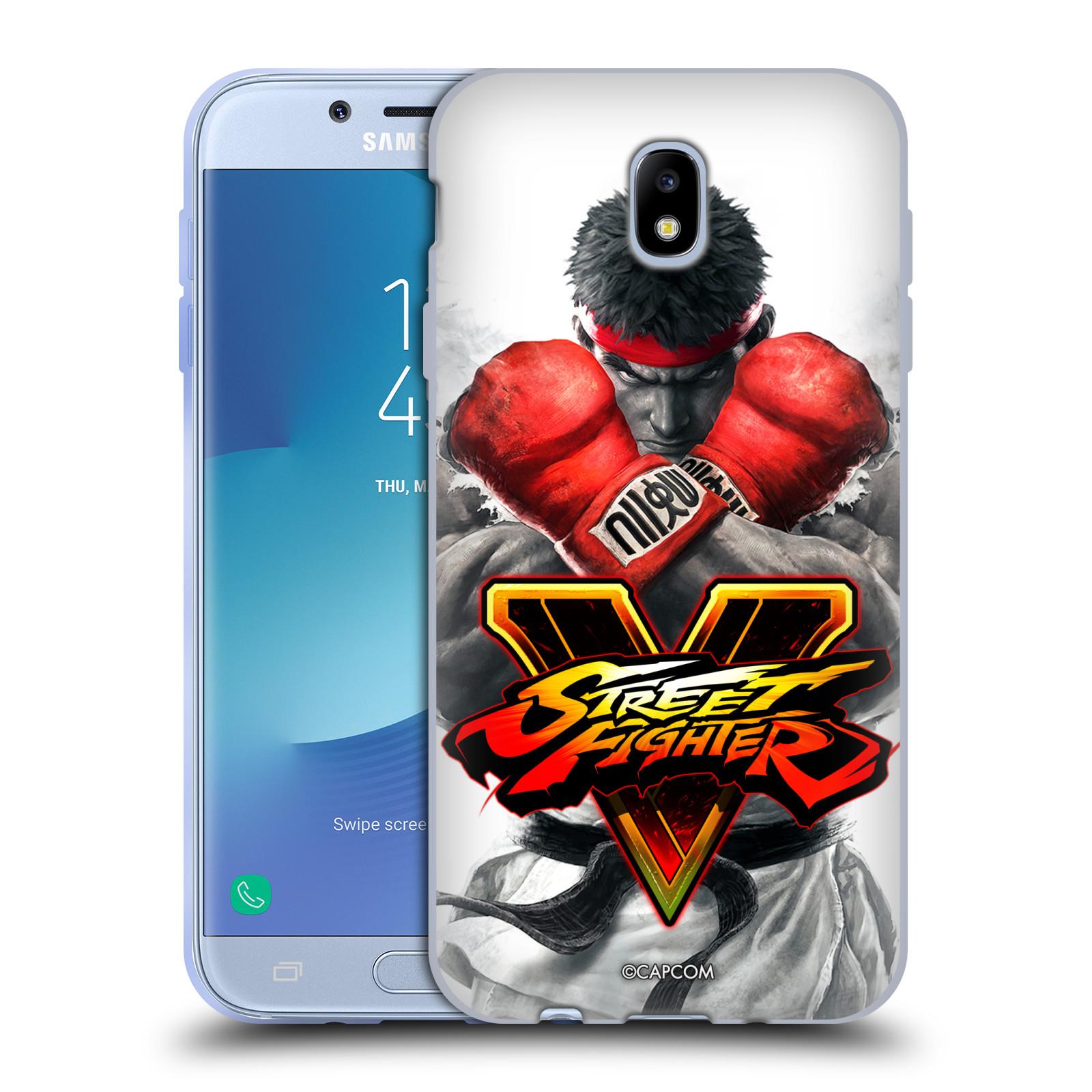 HEAD CASE silikonový obal na mobil Samsung Galaxy J7 2017 oficiální kryt STREET FIGHTER Boxer Ryu