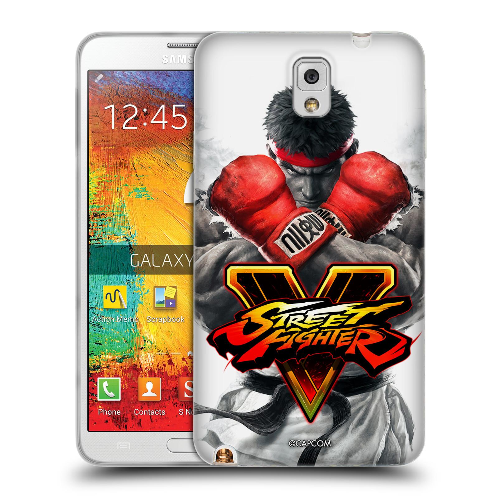 HEAD CASE silikonový obal na mobil Samsung Galaxy Note 3 oficiální kryt STREET FIGHTER Boxer Ryu