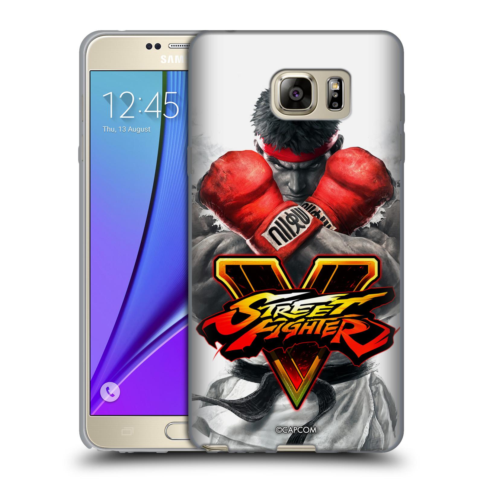 HEAD CASE silikonový obal na mobil Samsung Galaxy Note 5 oficiální kryt STREET FIGHTER Boxer Ryu