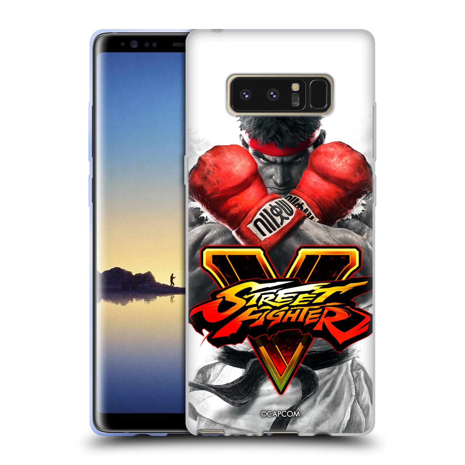 HEAD CASE silikonový obal na mobil Samsung Galaxy Note 8 oficiální kryt STREET FIGHTER Boxer Ryu