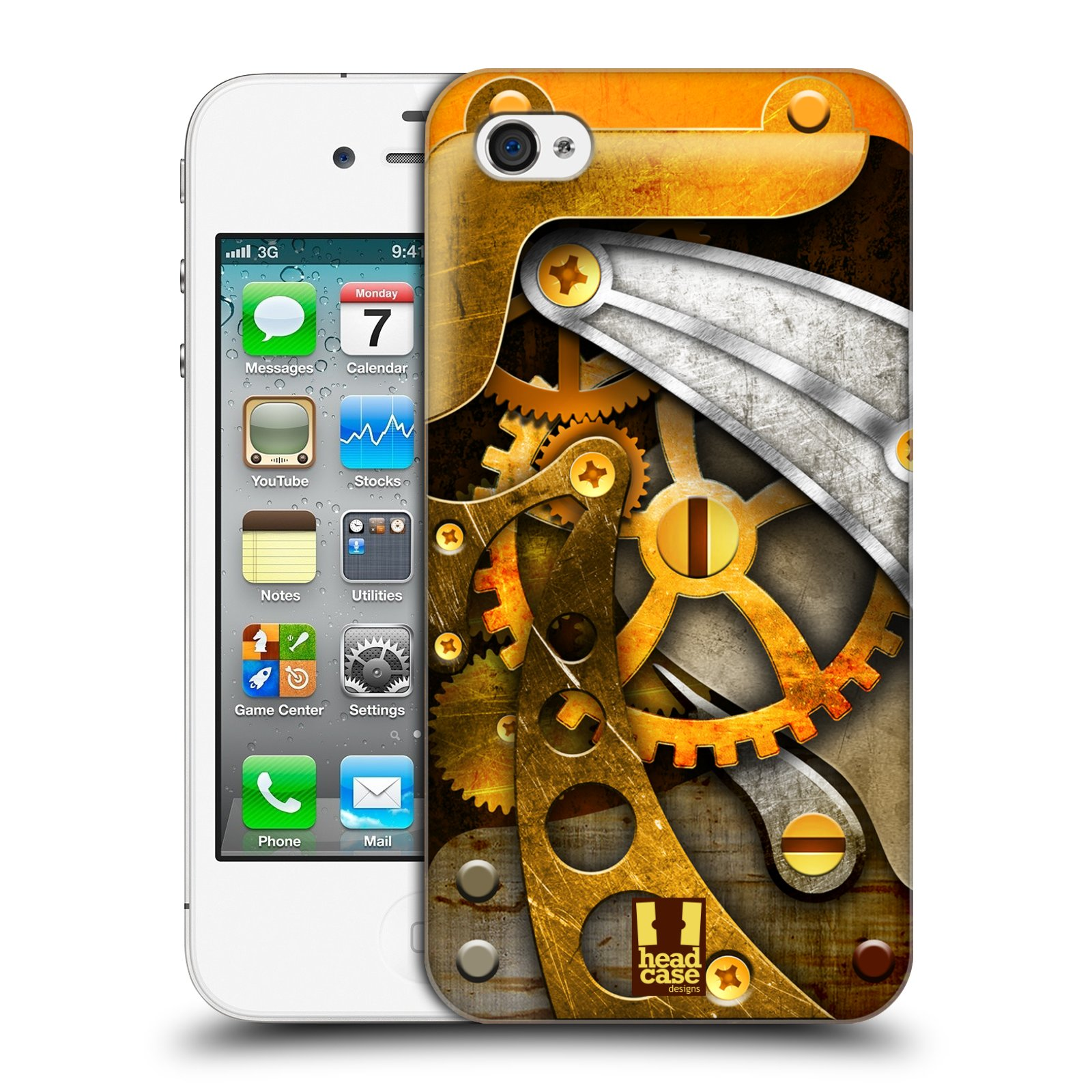 HEAD CASE DESIGNS STEAMPUNK HARD BACK CASE FOR APPLE iPHONE 4S