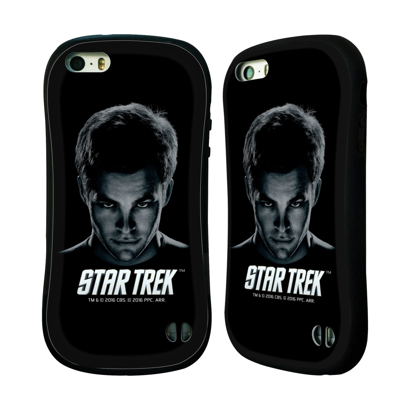 HEAD CASE silikon/plast odolný obal na mobil Apple Iphone 5 / 5S Star Trek Filmové postavy kapitán Kirk