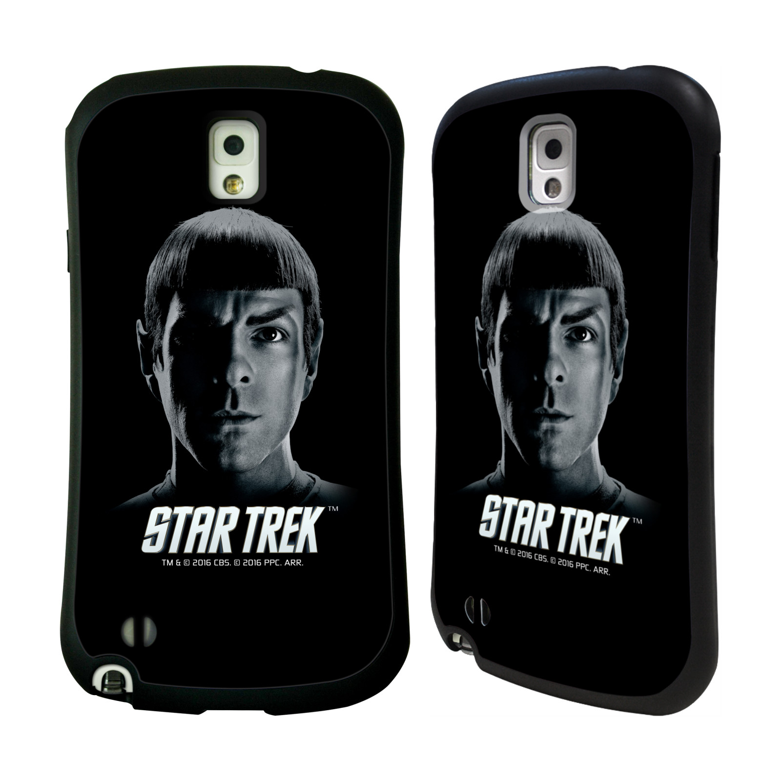 HEAD CASE silikon/plast odolný obal na mobil Samsung Galaxy NOTE 3 (N9005) Star Trek Filmové postavy Spock černá