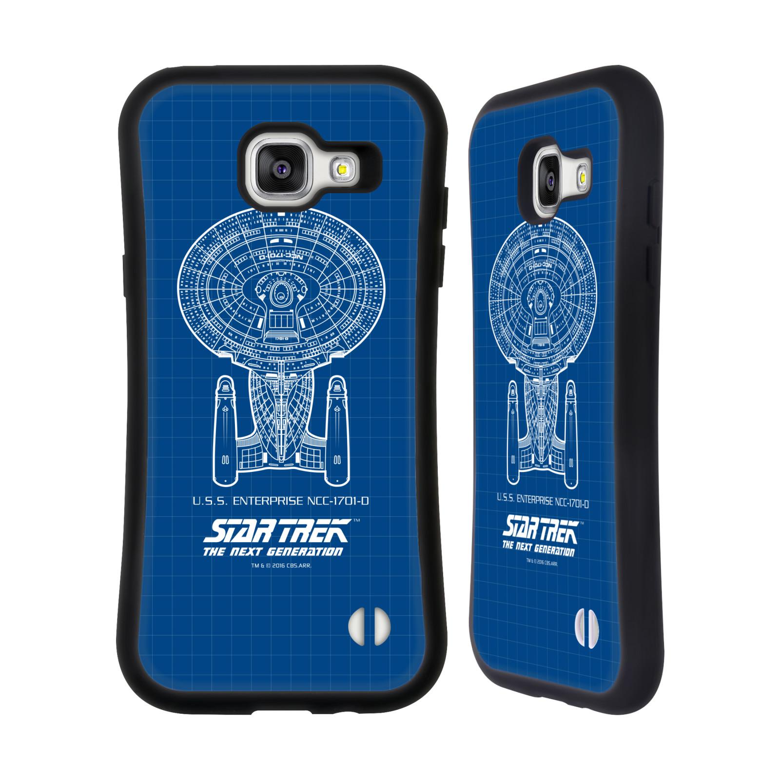 HEAD CASE silikon/plast odolný obal na mobil Samsung Galaxy A5 2016 (A510F) Star Trek vesmírná loď nákres USS Enterprise NCC-1701-D modrá