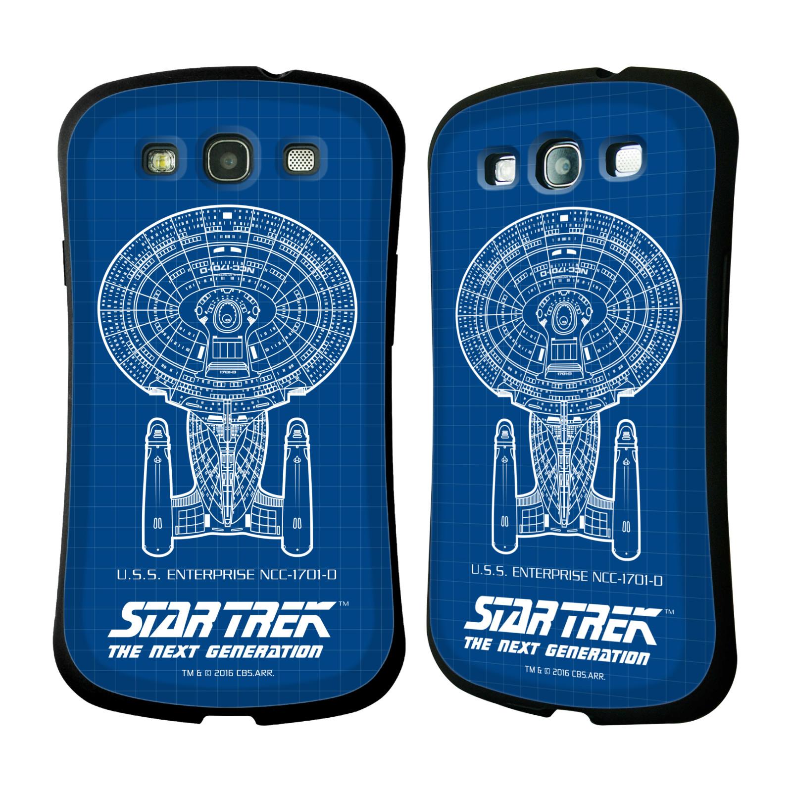 HEAD CASE silikon/plast odolný obal na mobil Samsung Galaxy S3 i9300 / S3 NEO Star Trek vesmírná loď nákres USS Enterprise NCC-1701-D modrá
