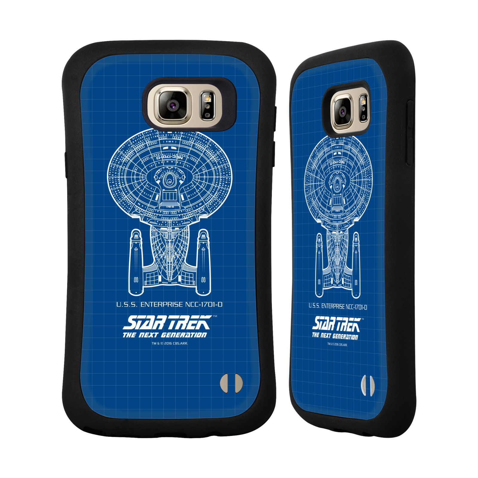 HEAD CASE silikon/plast odolný obal na mobil Samsung Galaxy NOTE 5 Star Trek vesmírná loď nákres USS Enterprise NCC-1701-D modrá