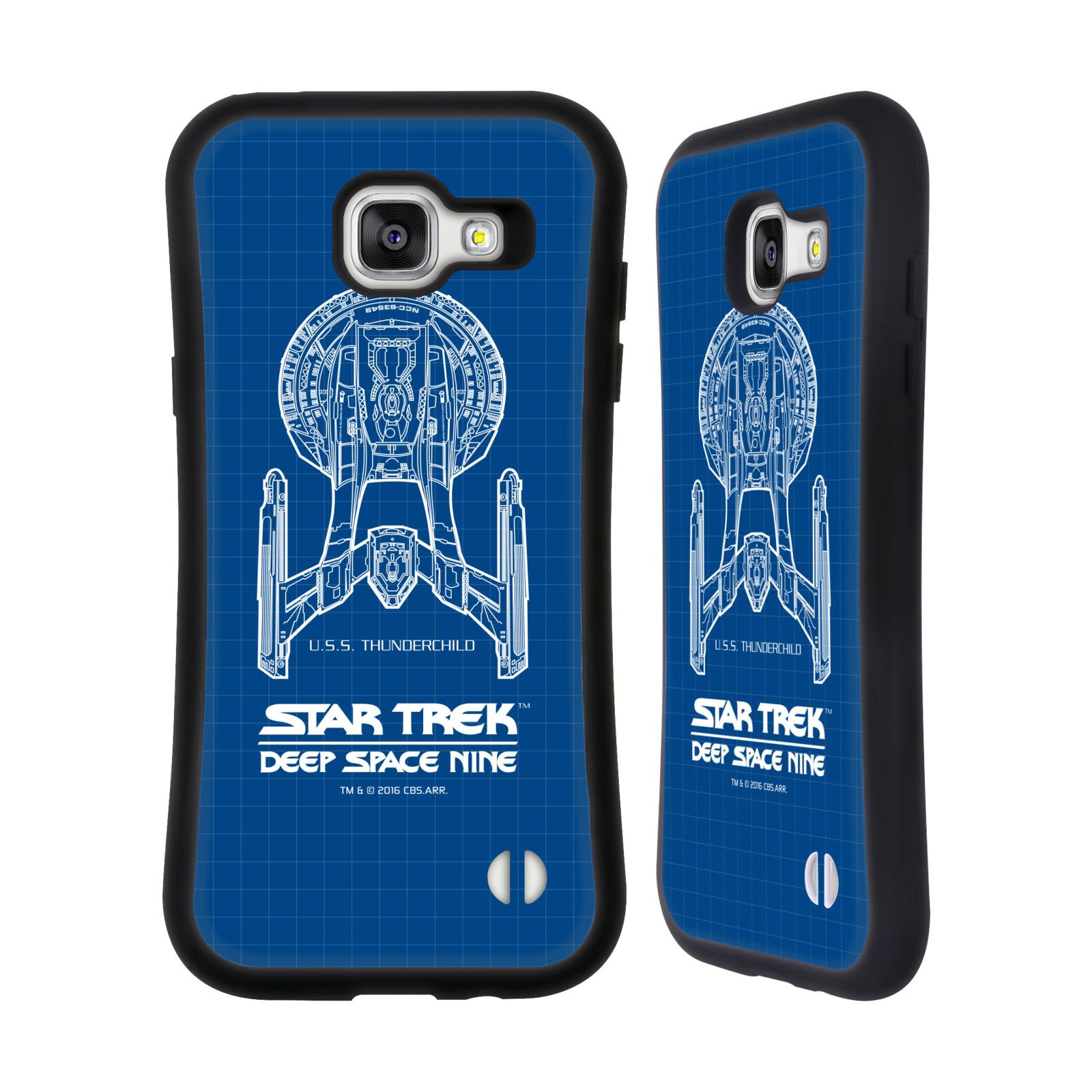 HEAD CASE silikon/plast odolný obal na mobil Samsung Galaxy A5 2016 (A510F) Star Trek vesmírná loď nákres DS9 modrá