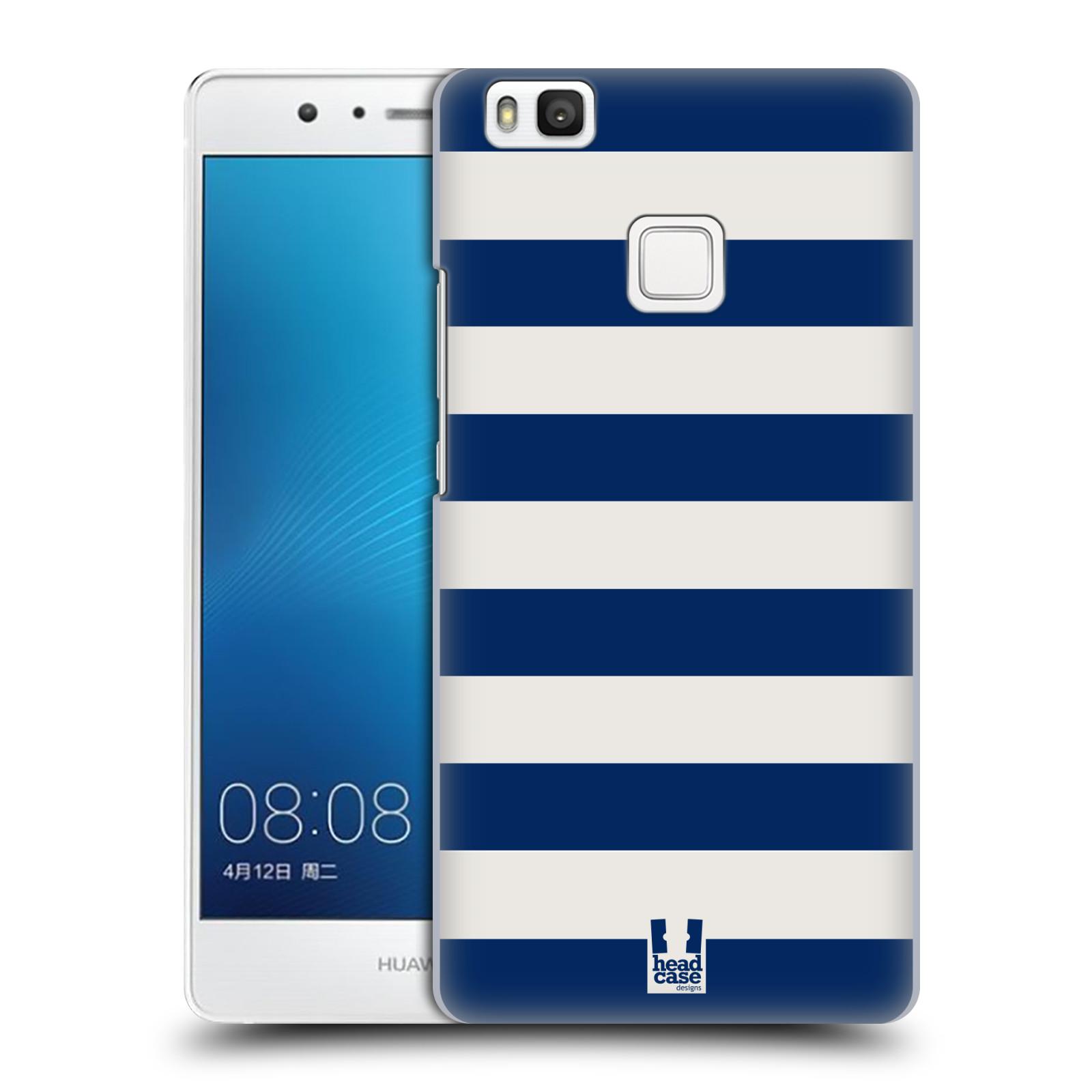 HEAD CASE plastový obal na mobil Huawei P9 LITE / P9 LITE DUAL SIM vzor Barevné proužky MODRÁ A BÍLÁ NÁMOŘNÍK