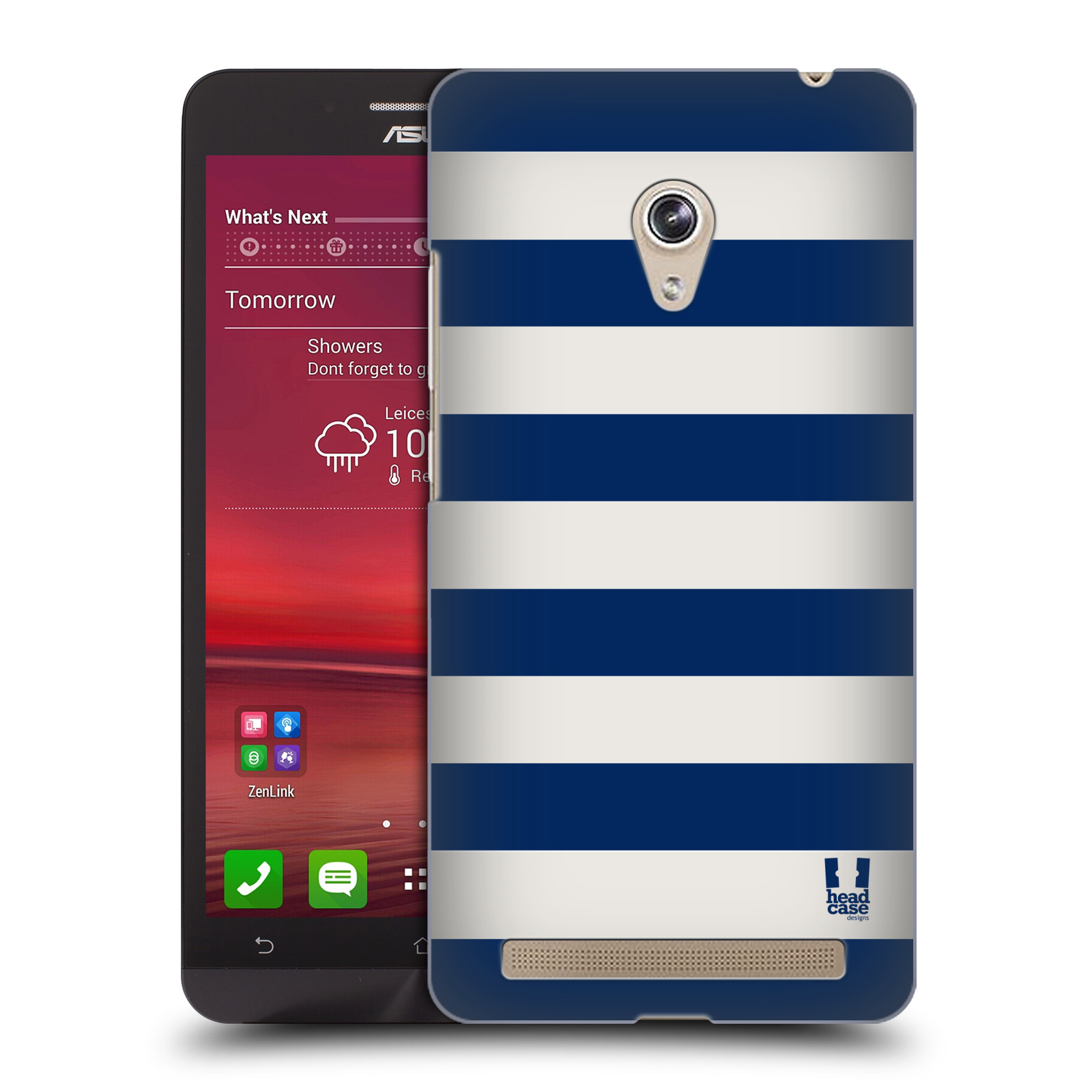HEAD CASE plastový obal na mobil Asus Zenfone 6 vzor Barevné proužky MODRÁ A BÍLÁ NÁMOŘNÍK