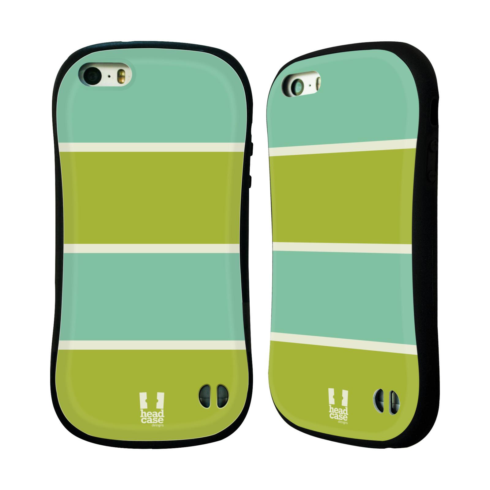 HEAD CASE silikon plast odolný obal na mobil Apple Iphone 5 5S vzor Barevné  proužky ZELENÁ A TYRKYSOVÁ b92a0d037bf