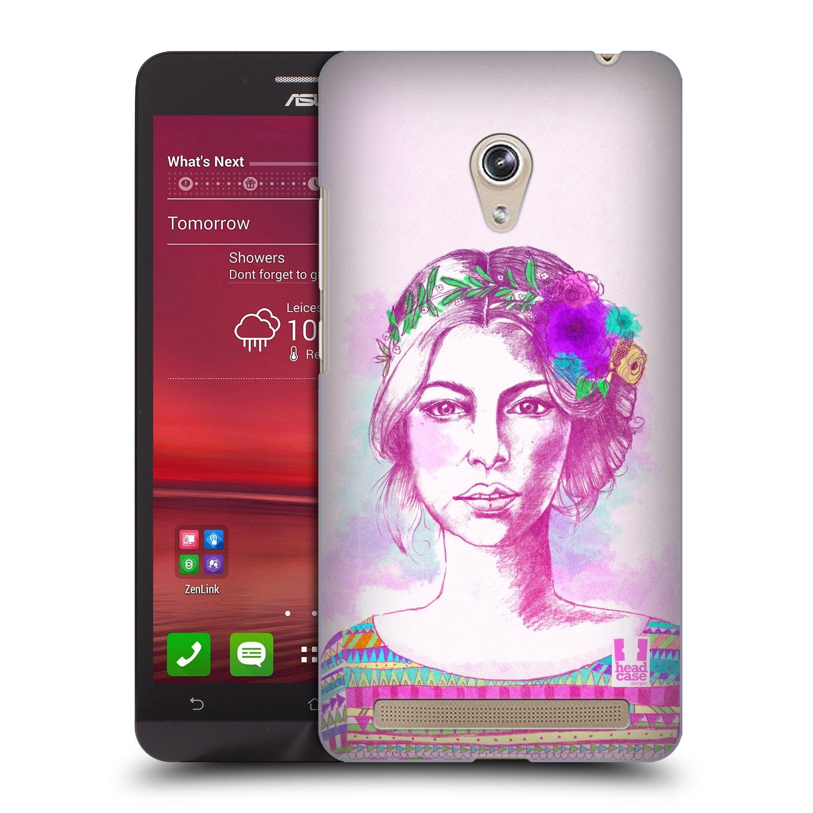 HEAD CASE plastový obal na mobil Asus Zenfone 6 vzor Dívka krátké vlasy růžová