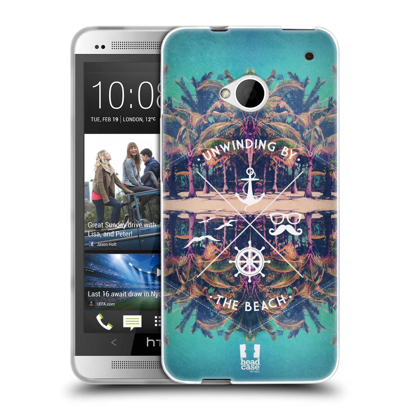HEAD CASE SUMMER SNAPSHOTS SERIES 2 SILICONE GEL CASE FOR HTC ONE
