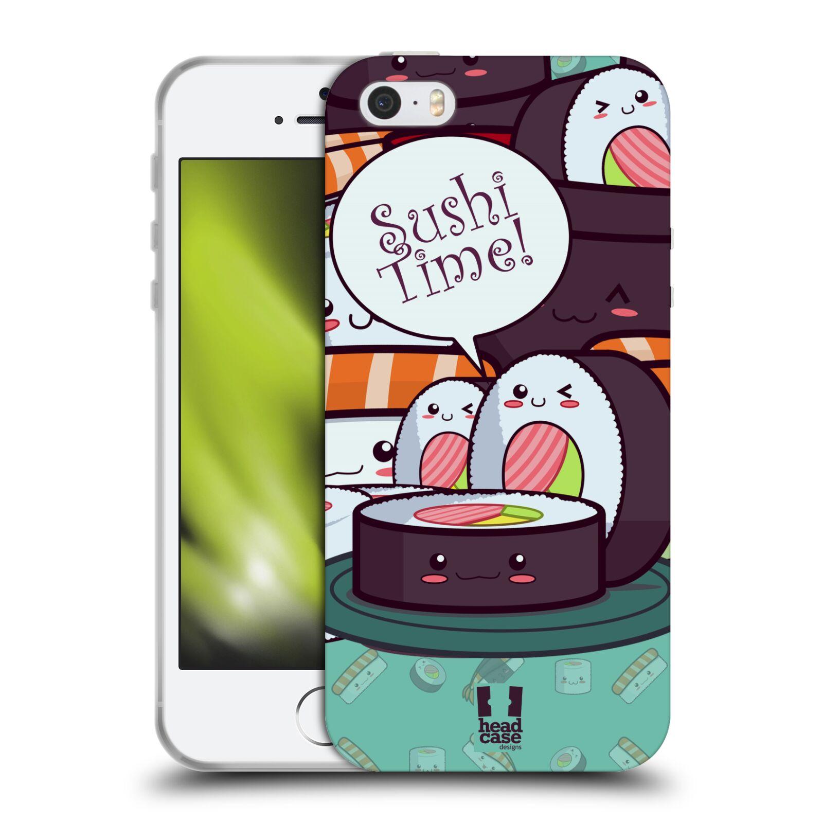 HEAD CASE silikonový obal na mobil Apple Iphone 5/5S vzor Čas na Sushi MAKI NORI