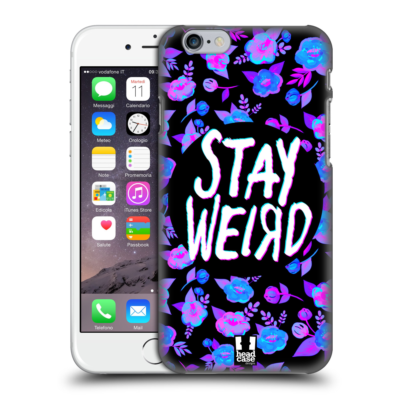 Head case designs stay weird hard back case for apple for Case design