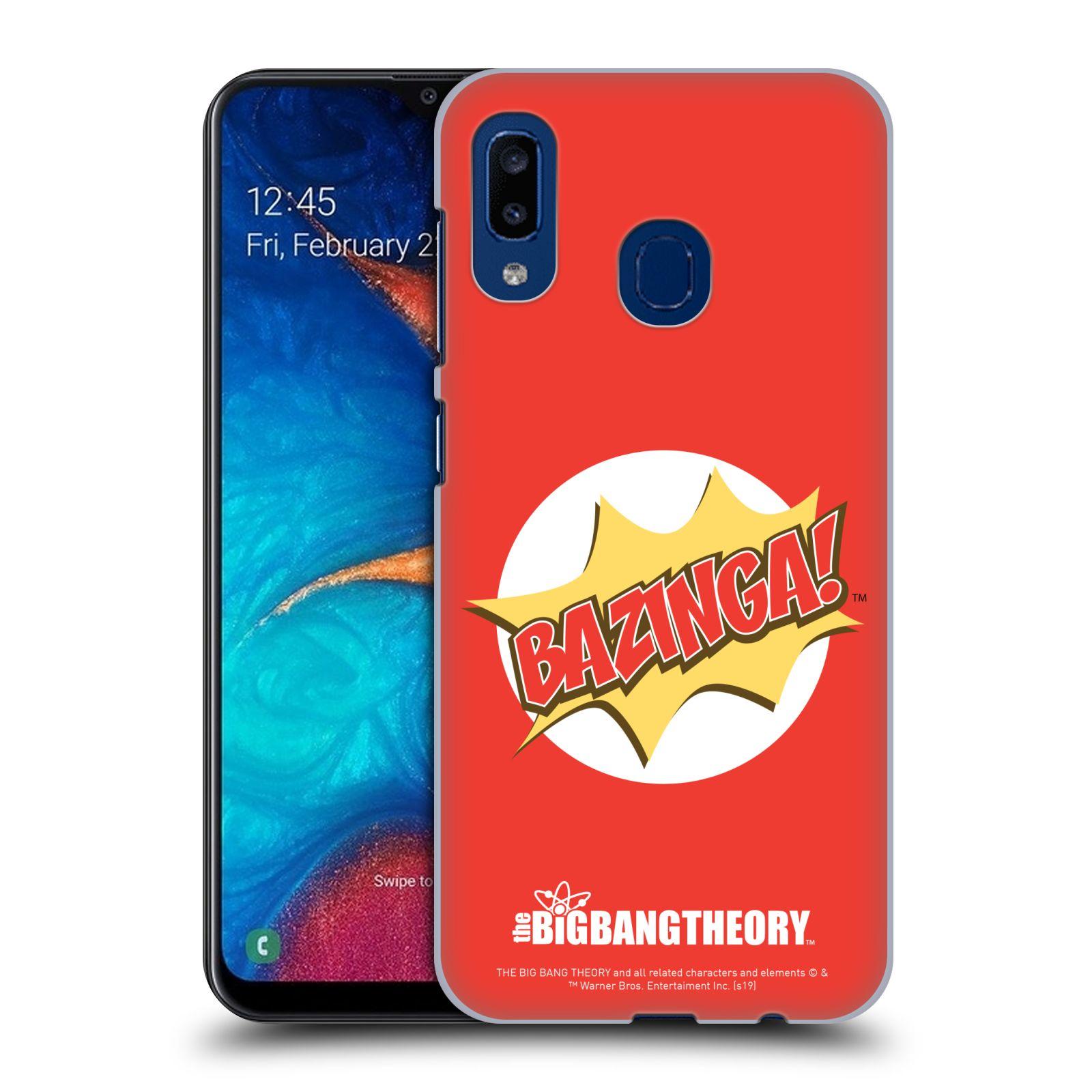 Pouzdro na mobil Samsung Galaxy A20 - HEAD CASE - Big Bang Theory - Bazinga
