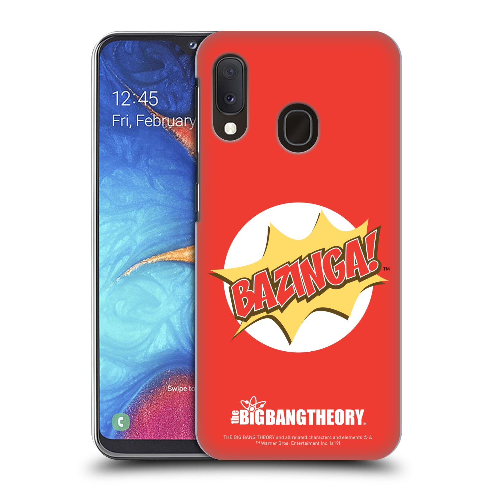 Pouzdro na mobil Samsung Galaxy A20e - HEAD CASE - Big Bang Theory - Bazinga