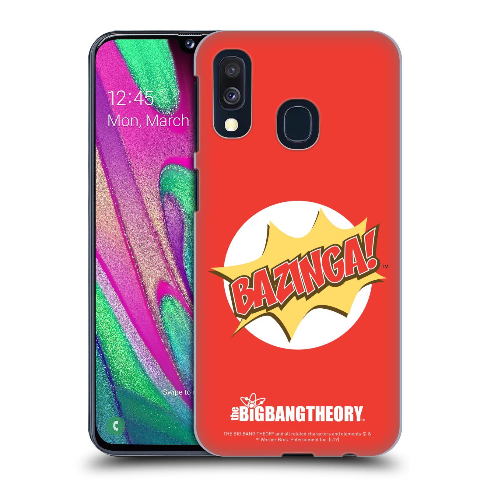 Pouzdro na mobil Samsung Galaxy A40 - HEAD CASE - Big Bang Theory - Bazinga