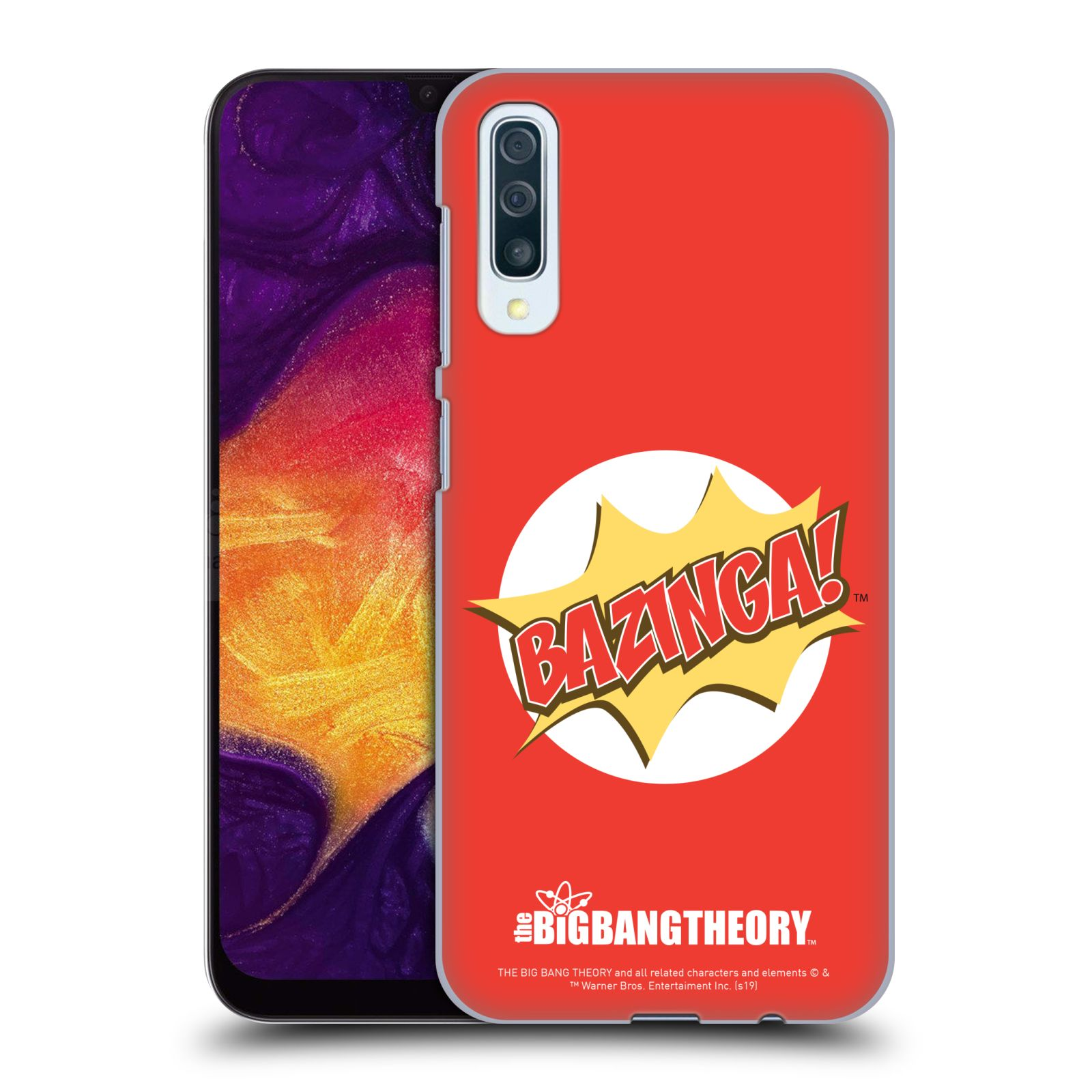 Pouzdro na mobil Samsung Galaxy A50 - HEAD CASE - Big Bang Theory - Bazinga