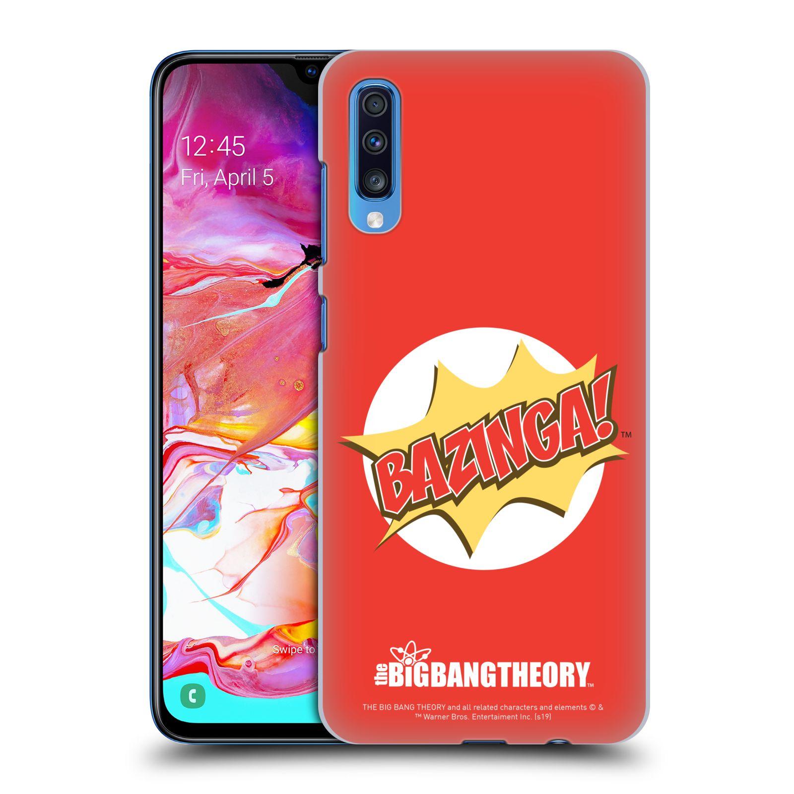 Pouzdro na mobil Samsung Galaxy A70 - HEAD CASE - Big Bang Theory - Bazinga