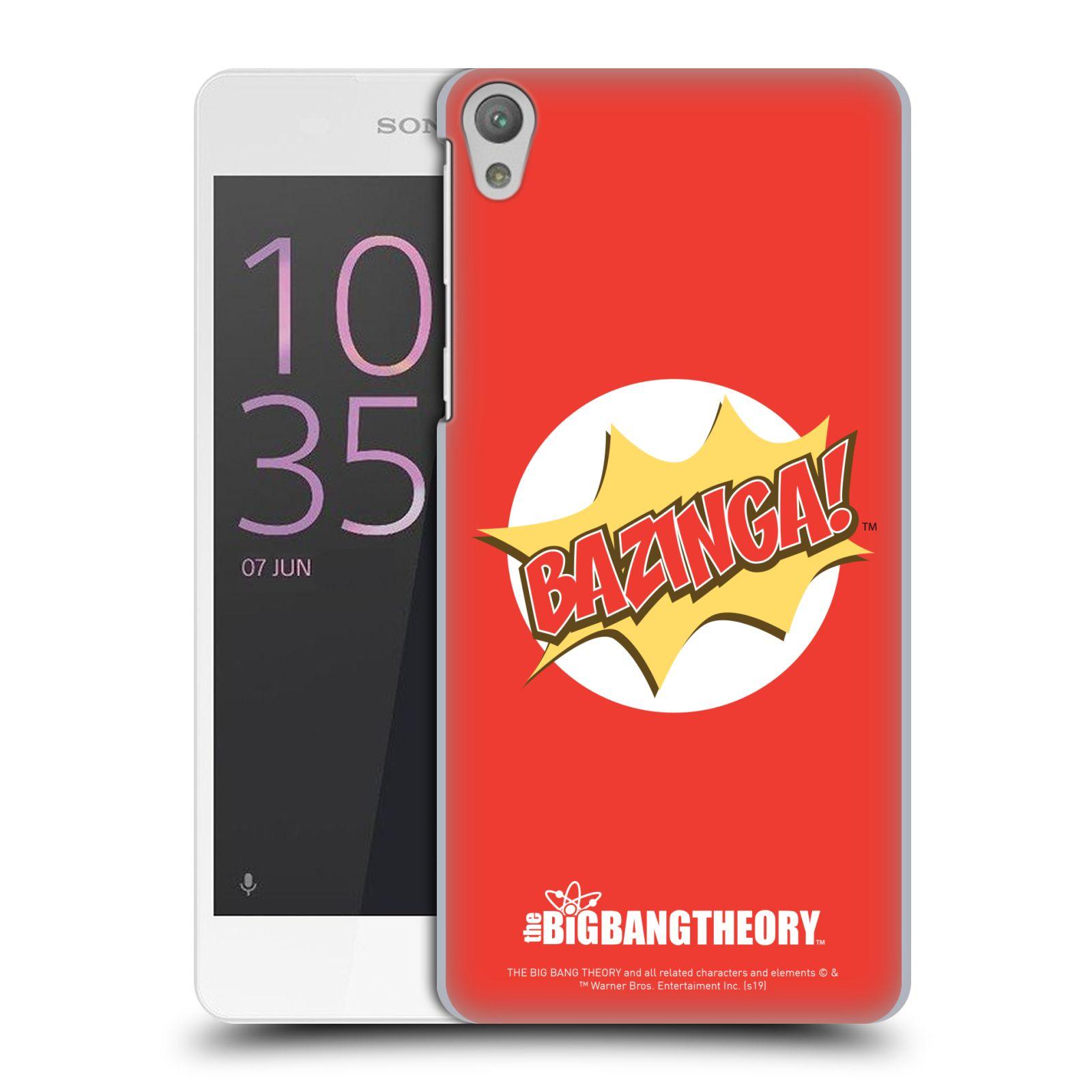 Pouzdro na mobil Sony Xperia E5 - HEAD CASE - Big Bang Theory - Bazinga