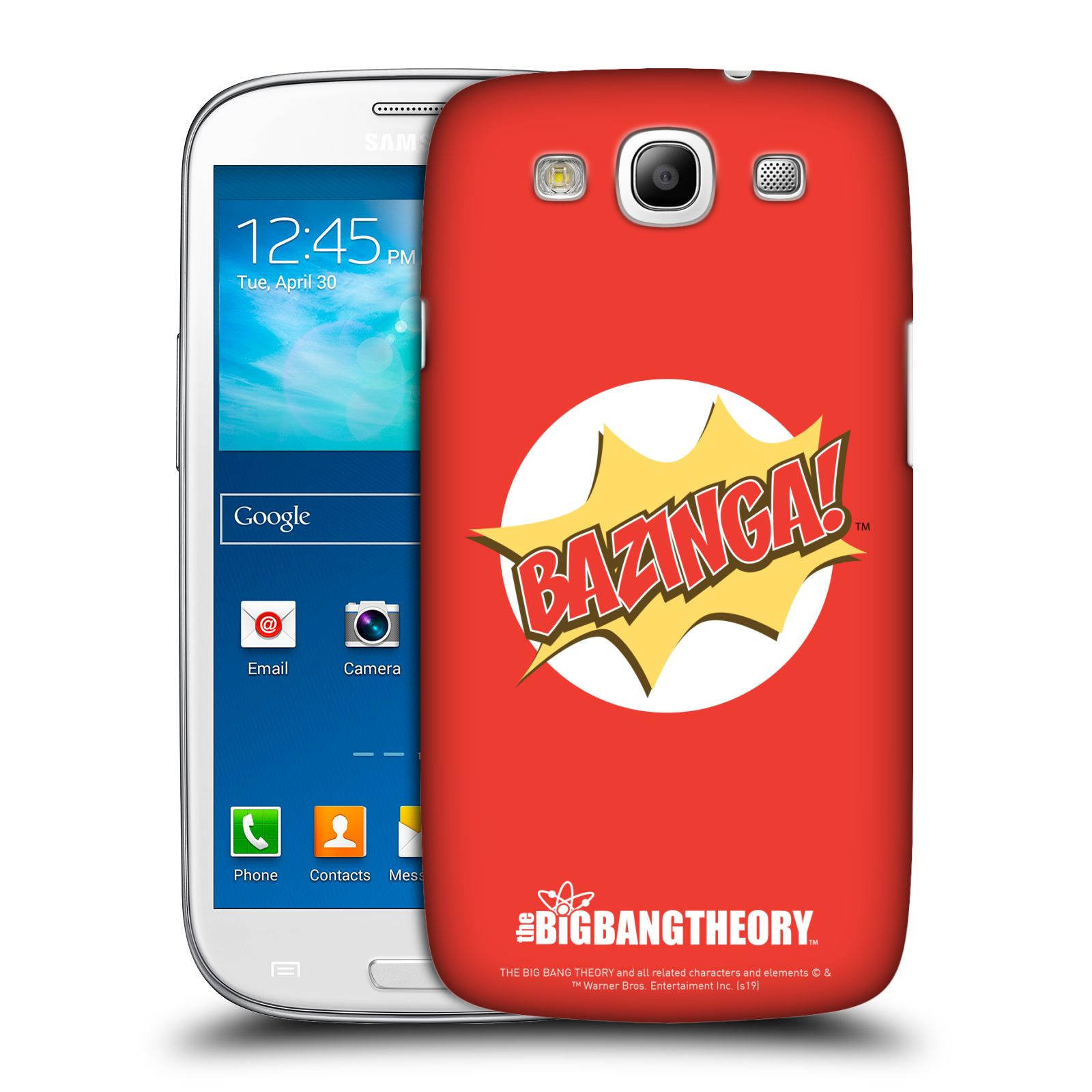Pouzdro na mobil Samsung Galaxy S3 - HEAD CASE - Big Bang Theory - Bazinga
