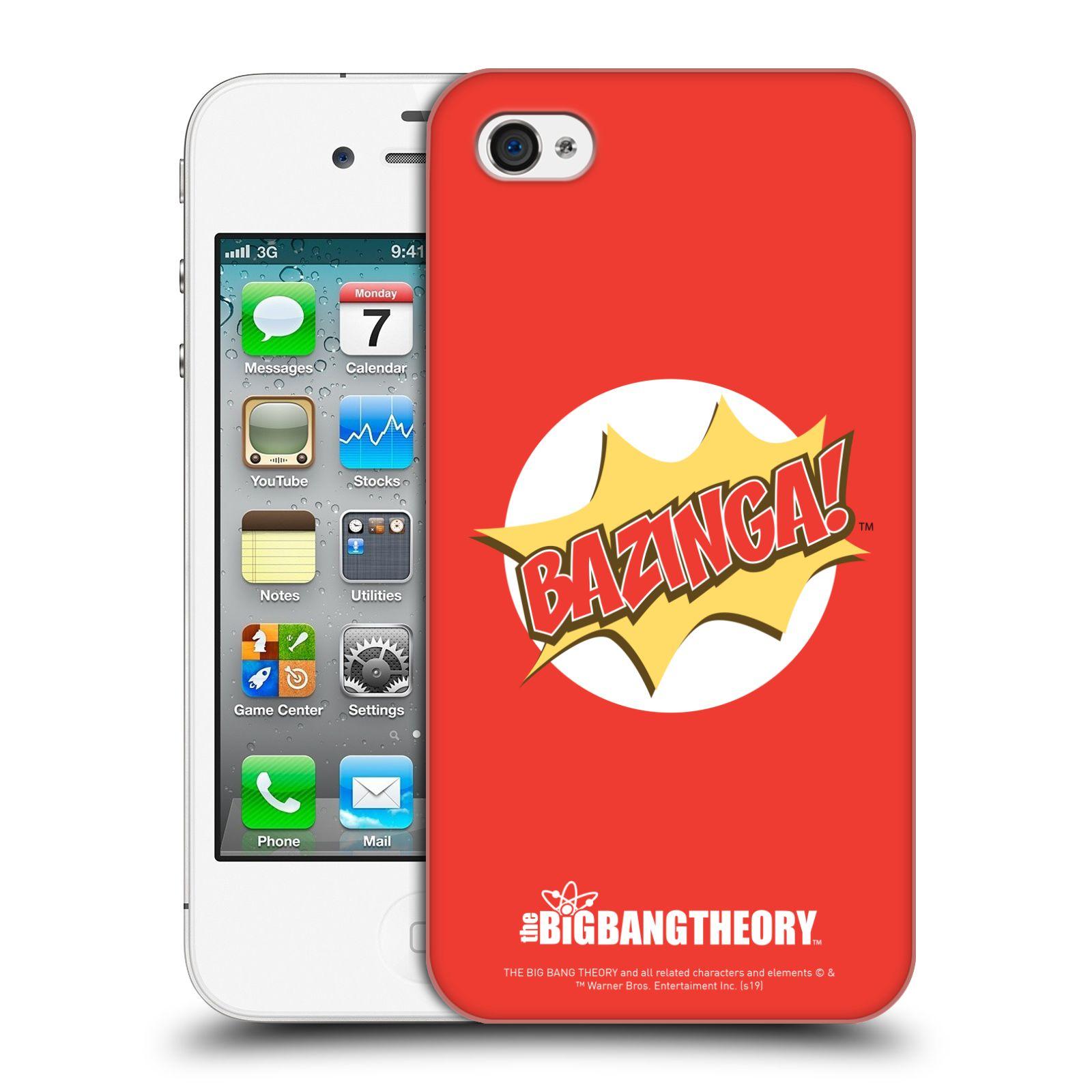 Pouzdro na mobil Apple Iphone 4/4S - HEAD CASE - Big Bang Theory - Bazinga