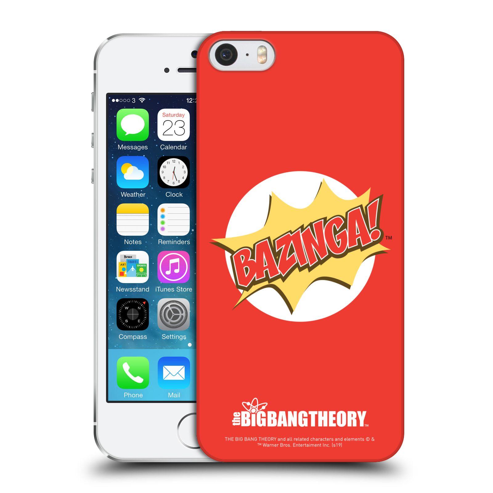 Pouzdro na mobil Apple Iphone 5/5S - HEAD CASE - Big Bang Theory - Bazinga