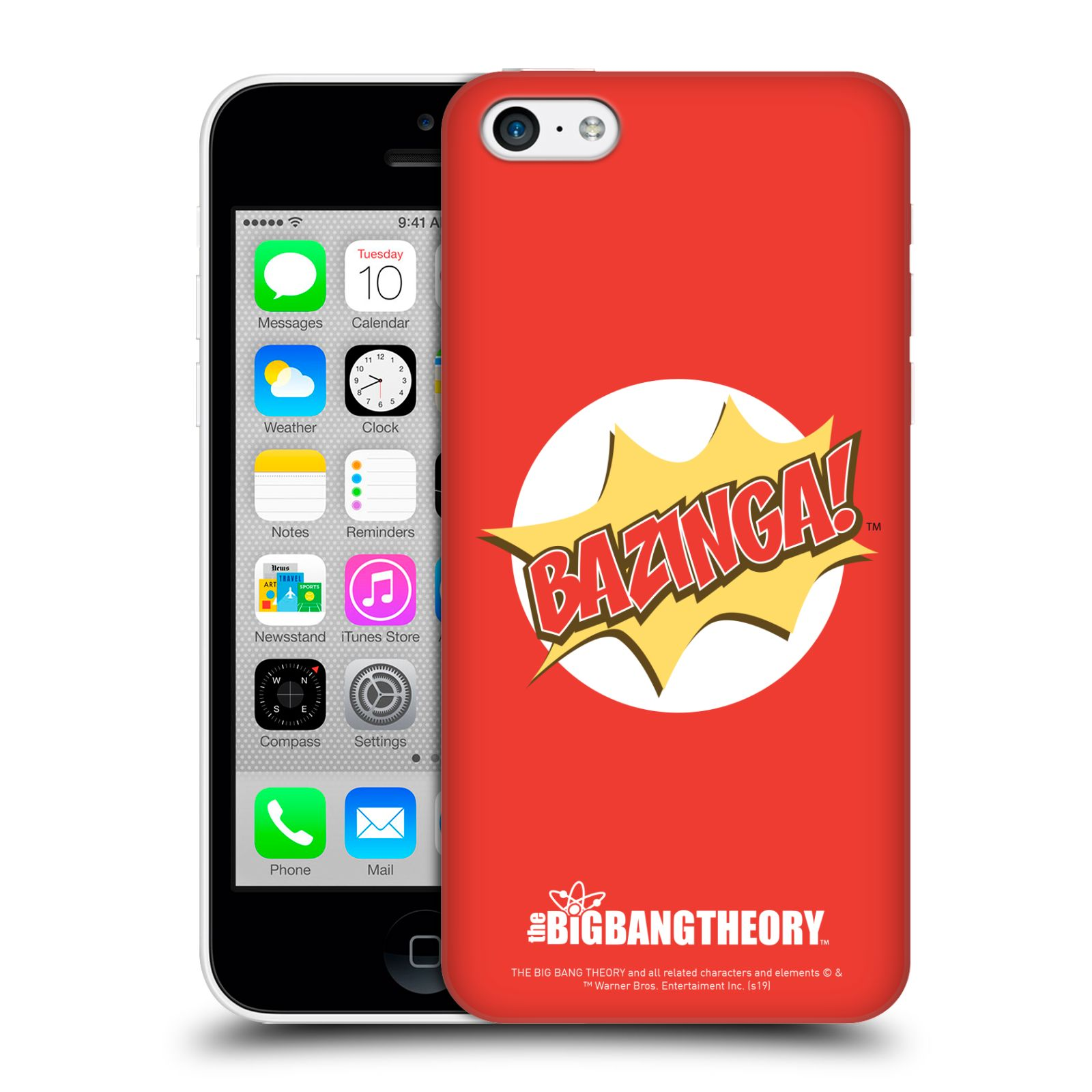 Pouzdro na mobil Apple Iphone 5C - HEAD CASE - Big Bang Theory - Bazinga