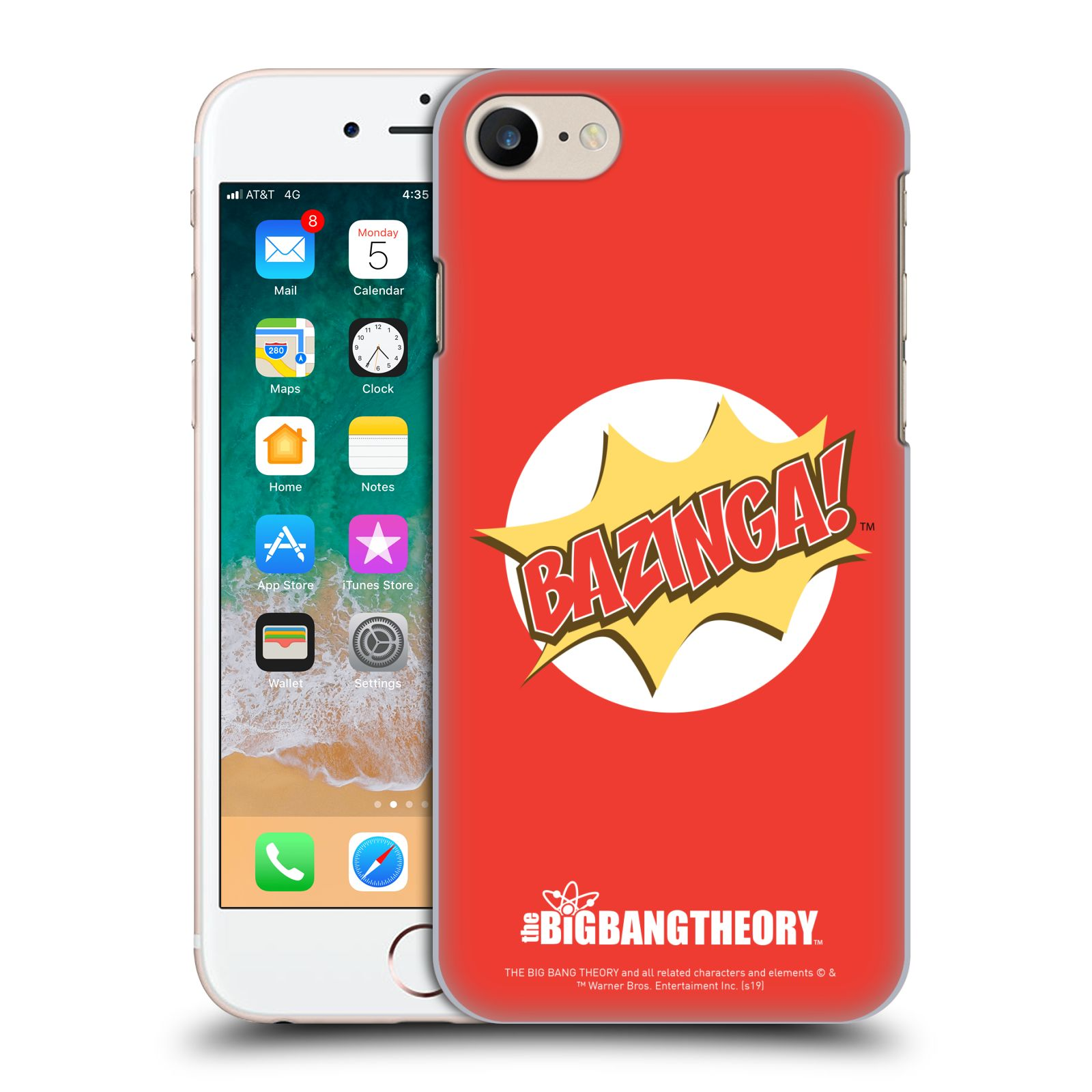 Pouzdro na mobil Apple Iphone 7/8 - HEAD CASE - Big Bang Theory - Bazinga
