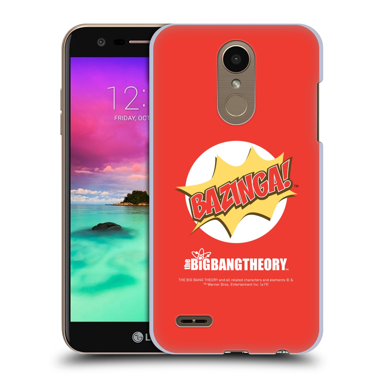 Pouzdro na mobil LG K10 2018 - HEAD CASE - Big Bang Theory - Bazinga