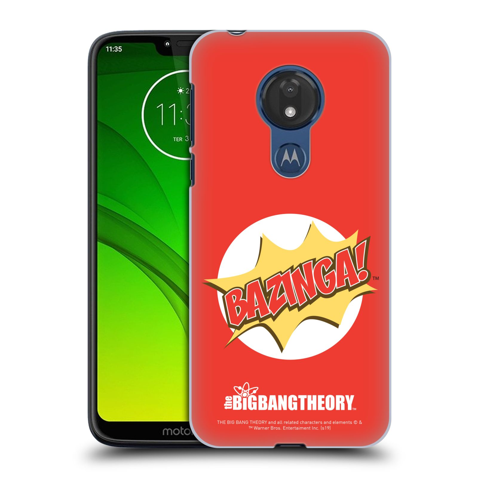 Pouzdro na mobil Motorola Moto G7 POWER - HEAD CASE - Big Bang Theory - Bazinga