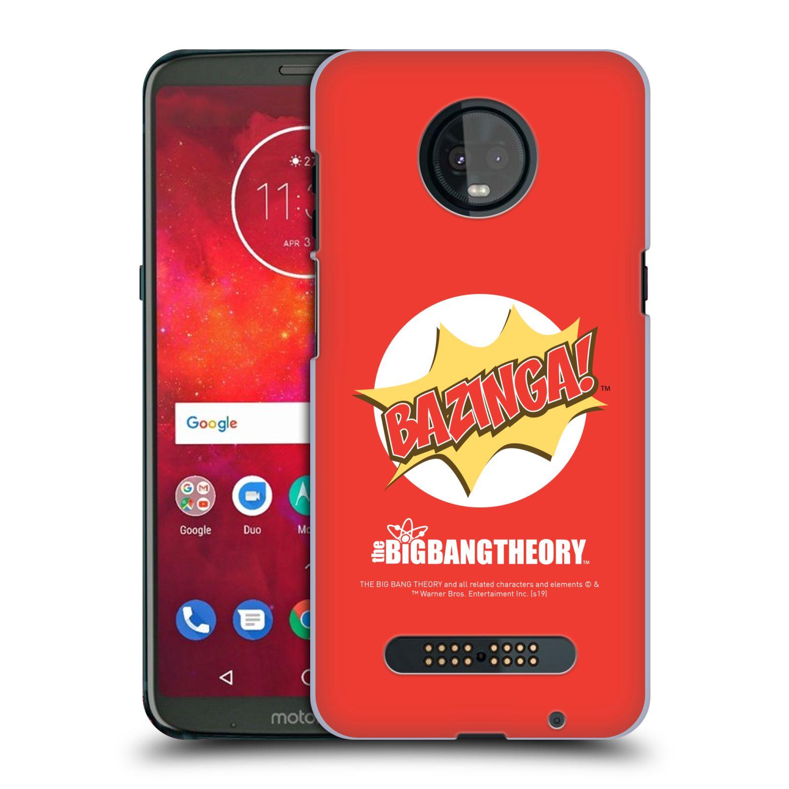 Pouzdro na mobil Motorola Moto Z3 PLAY - HEAD CASE - Big Bang Theory - Bazinga