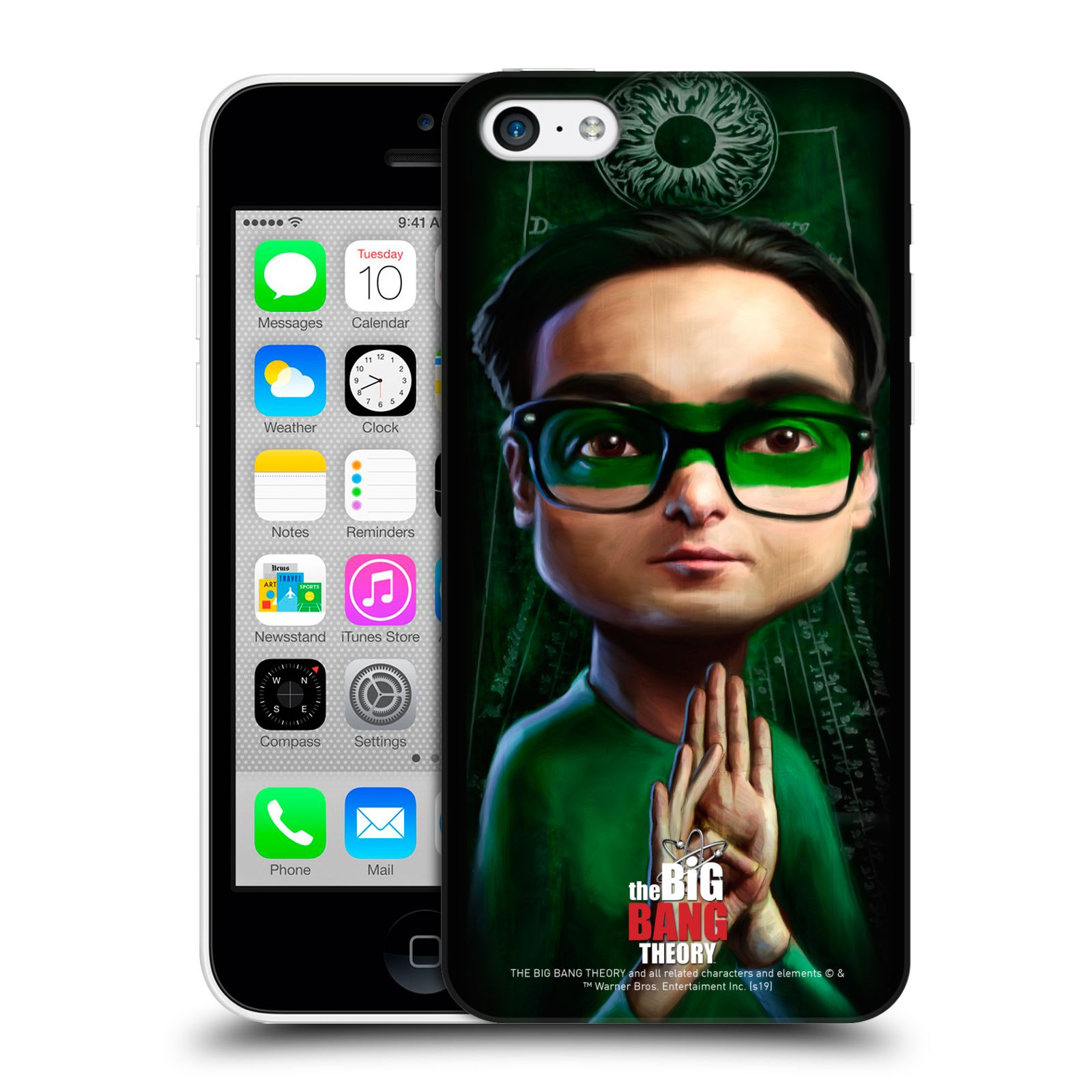 Pouzdro na mobil Apple Iphone 5C - HEAD CASE - Big Bang Theory - Leonard Hofstadter