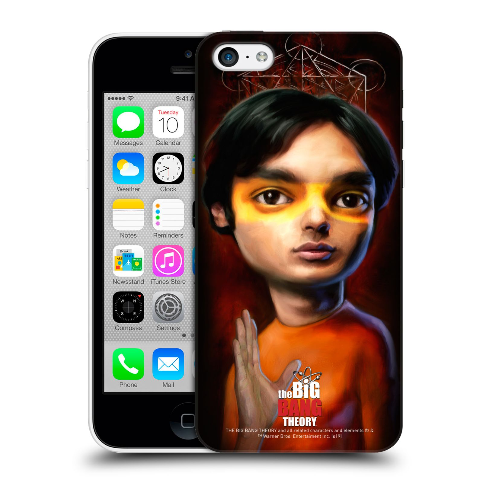 Pouzdro na mobil Apple Iphone 5C - HEAD CASE - Big Bang Theory - Raj Koothrappali