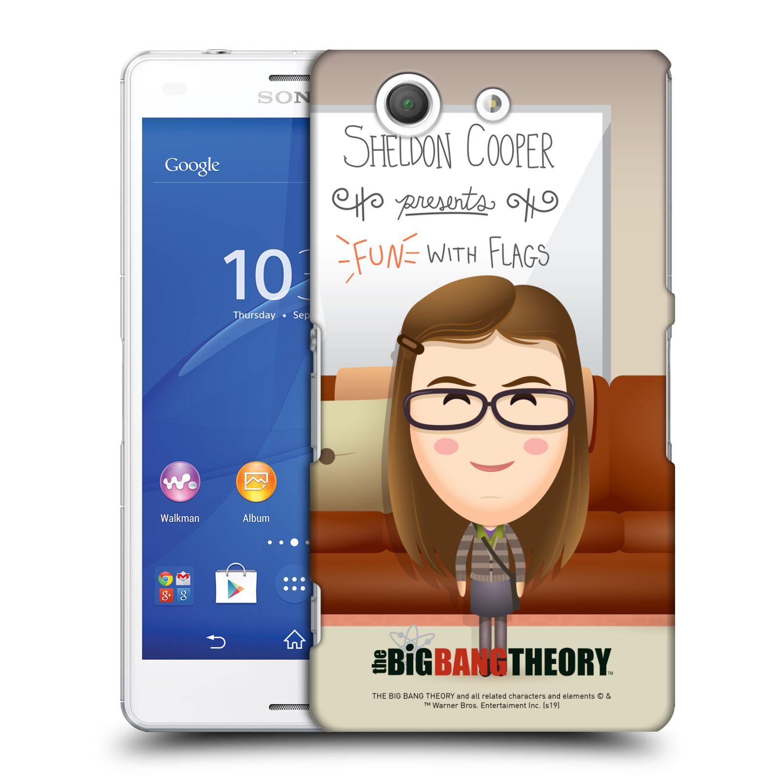 Pouzdro na mobil Sony Xperia Z3 COMPACT - HEAD CASE - Big Bang Theory - kreslená Amy