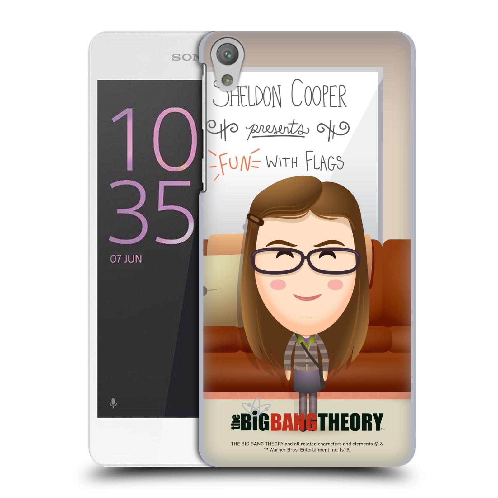 Pouzdro na mobil Sony Xperia E5 - HEAD CASE - Big Bang Theory - kreslená Amy