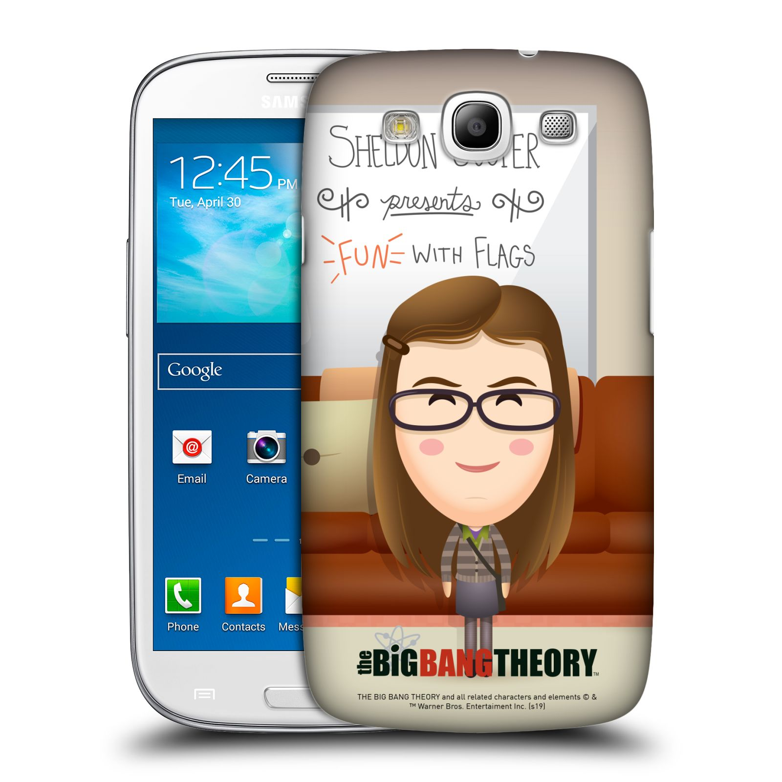 Pouzdro na mobil Samsung Galaxy S3 - HEAD CASE - Big Bang Theory - kreslená Amy