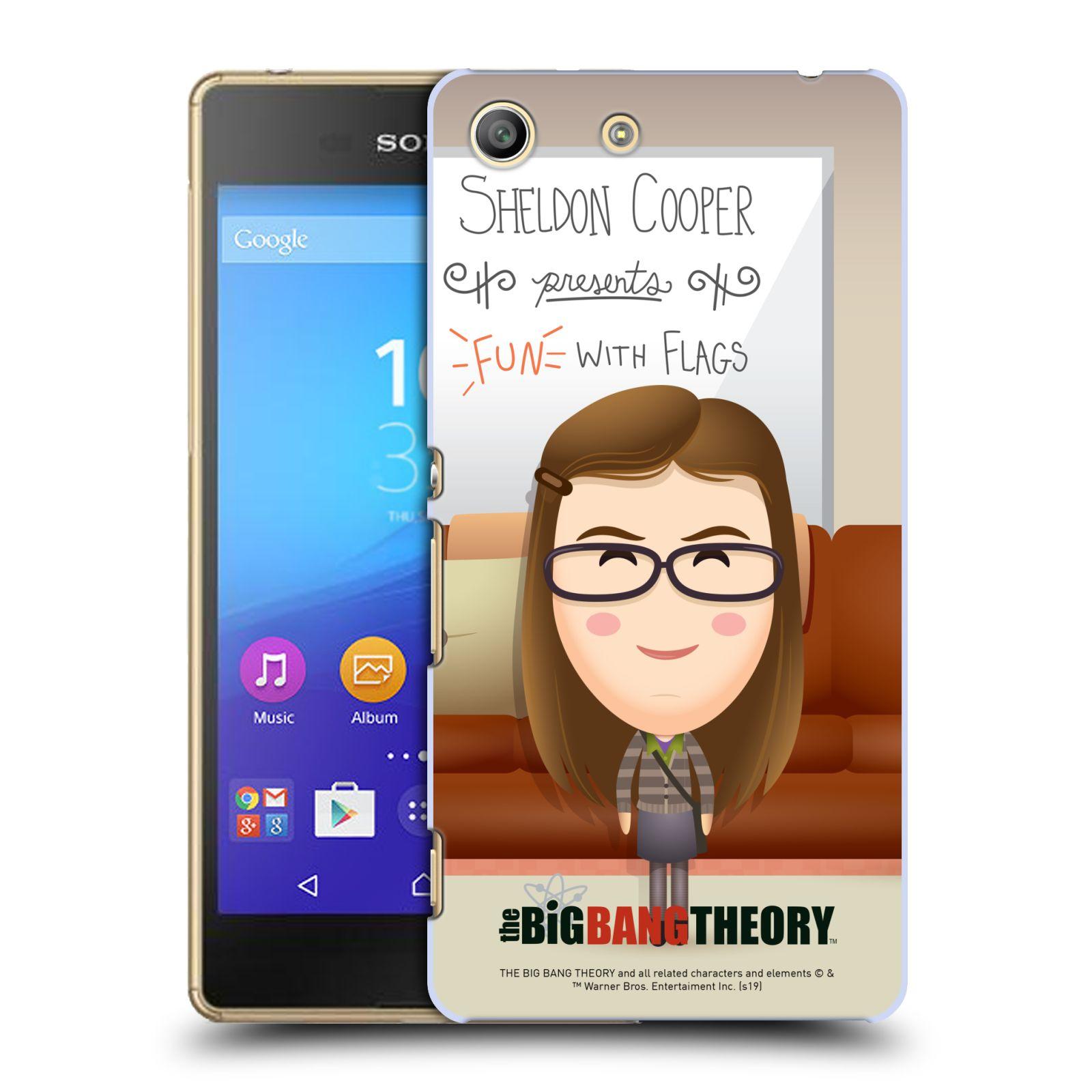Pouzdro na mobil Sony Xperia M5 - HEAD CASE - Big Bang Theory - kreslená Amy