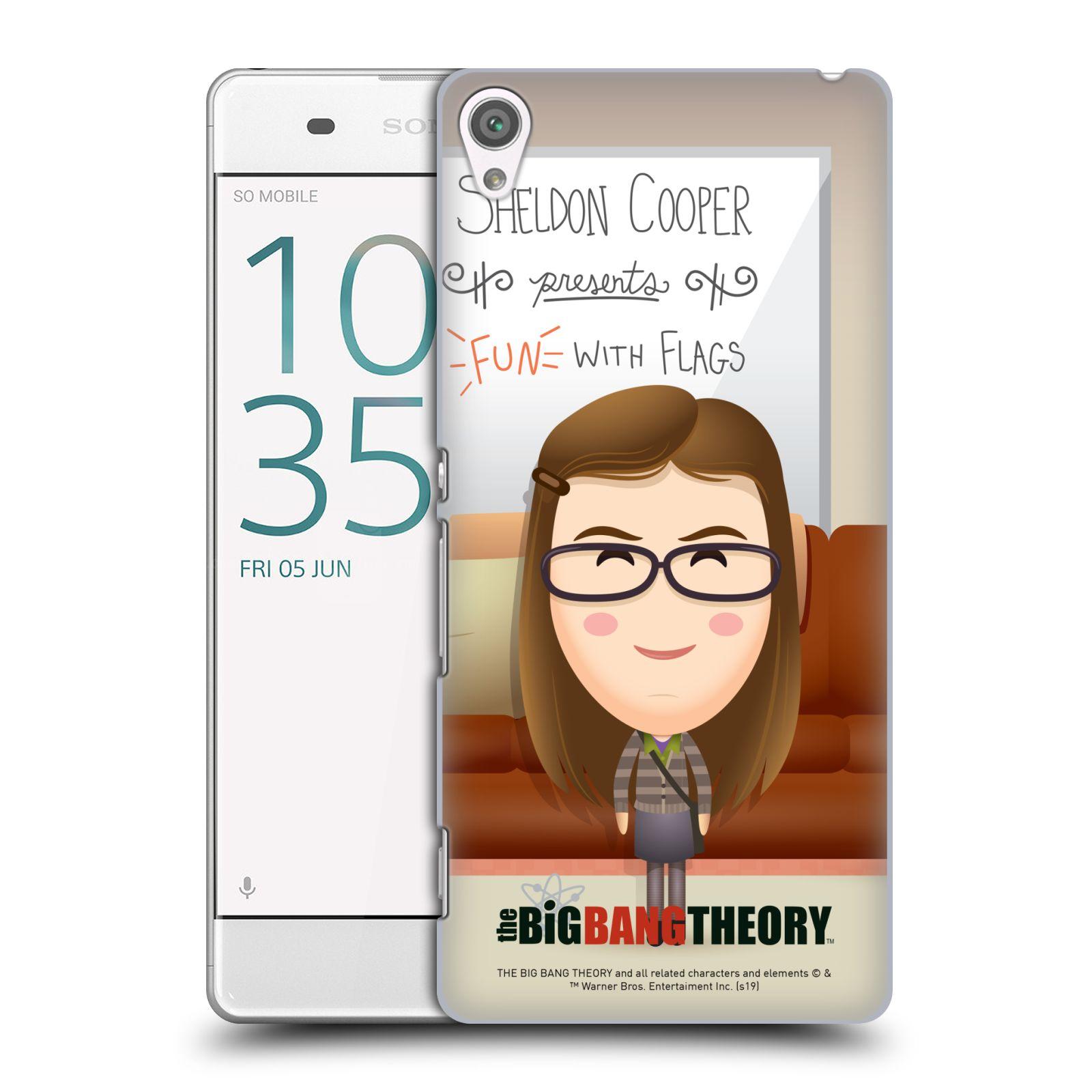 Pouzdro na mobil Sony Xperia XA - HEAD CASE - Big Bang Theory - kreslená Amy