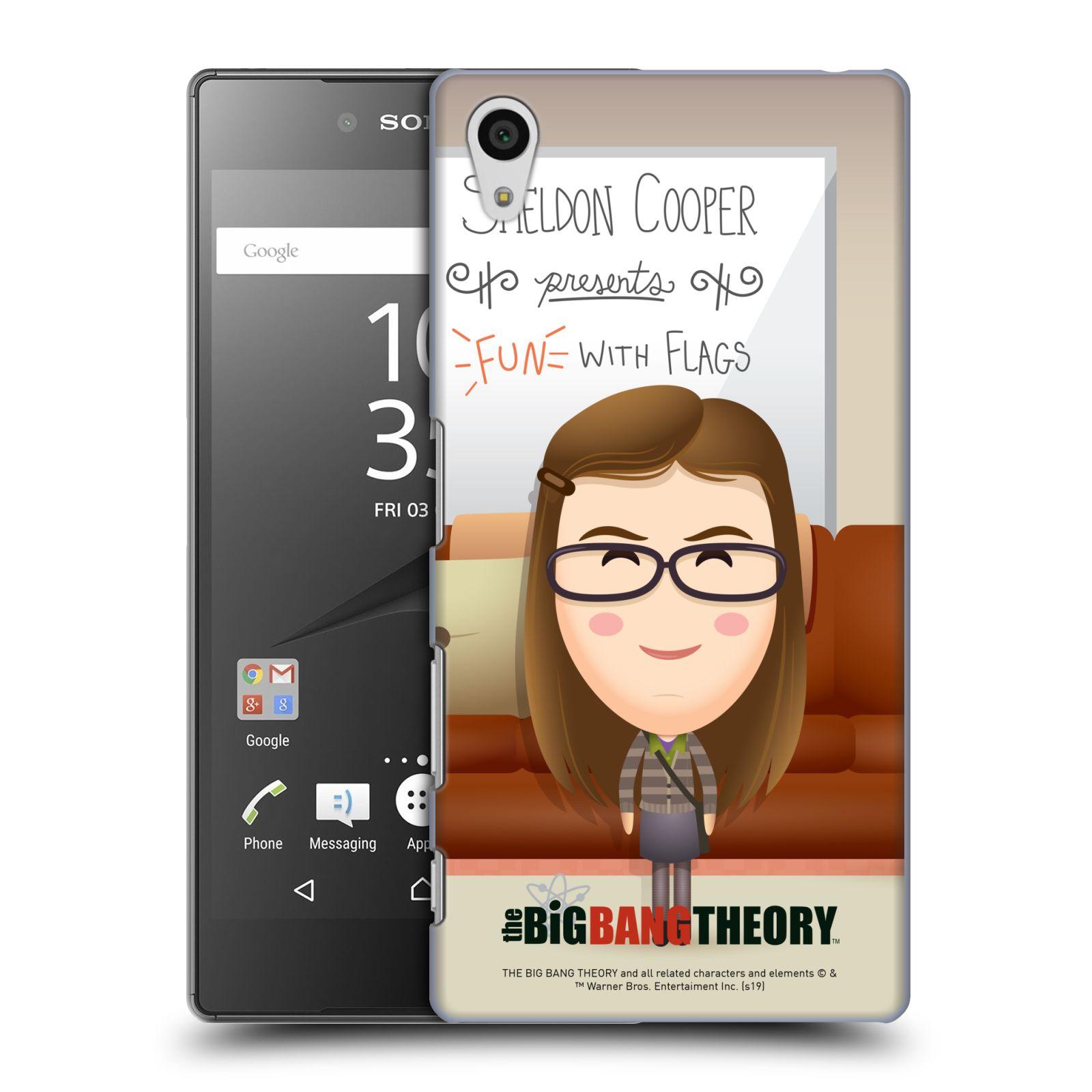 Pouzdro na mobil Sony Xperia Z5 - HEAD CASE - Big Bang Theory - kreslená Amy