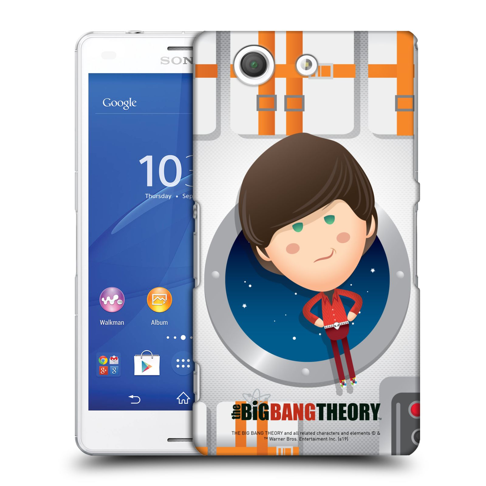 Pouzdro na mobil Sony Xperia Z3 COMPACT - HEAD CASE - Big Bang Theory - kreslený Howard