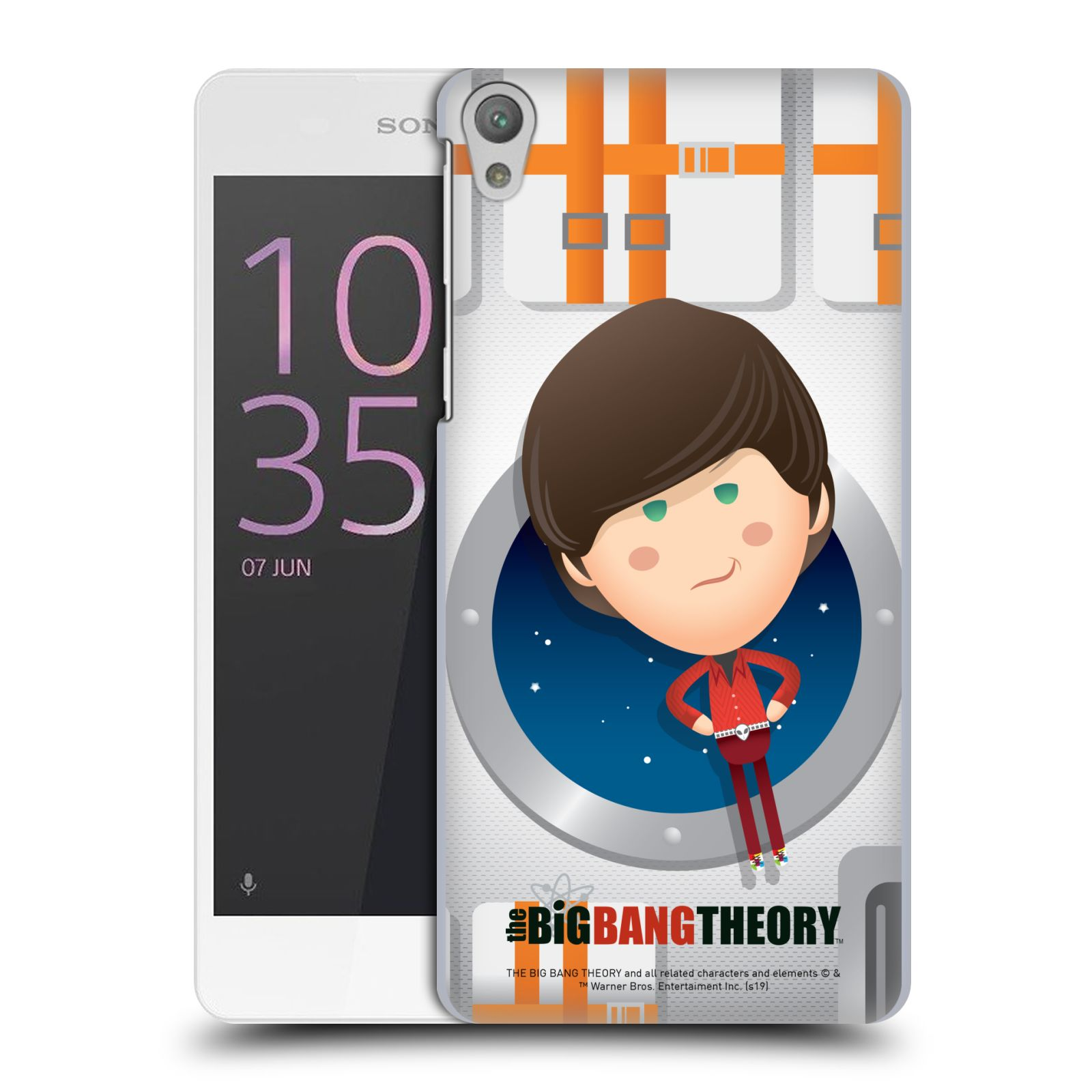 Pouzdro na mobil Sony Xperia E5 - HEAD CASE - Big Bang Theory - kreslený Howard