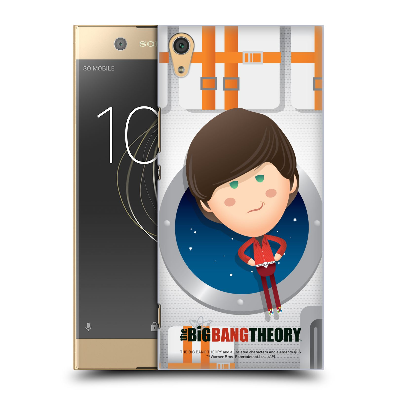 Pouzdro na mobil Sony Xperia XA1 ULTRA - HEAD CASE - Big Bang Theory - kreslený Howard