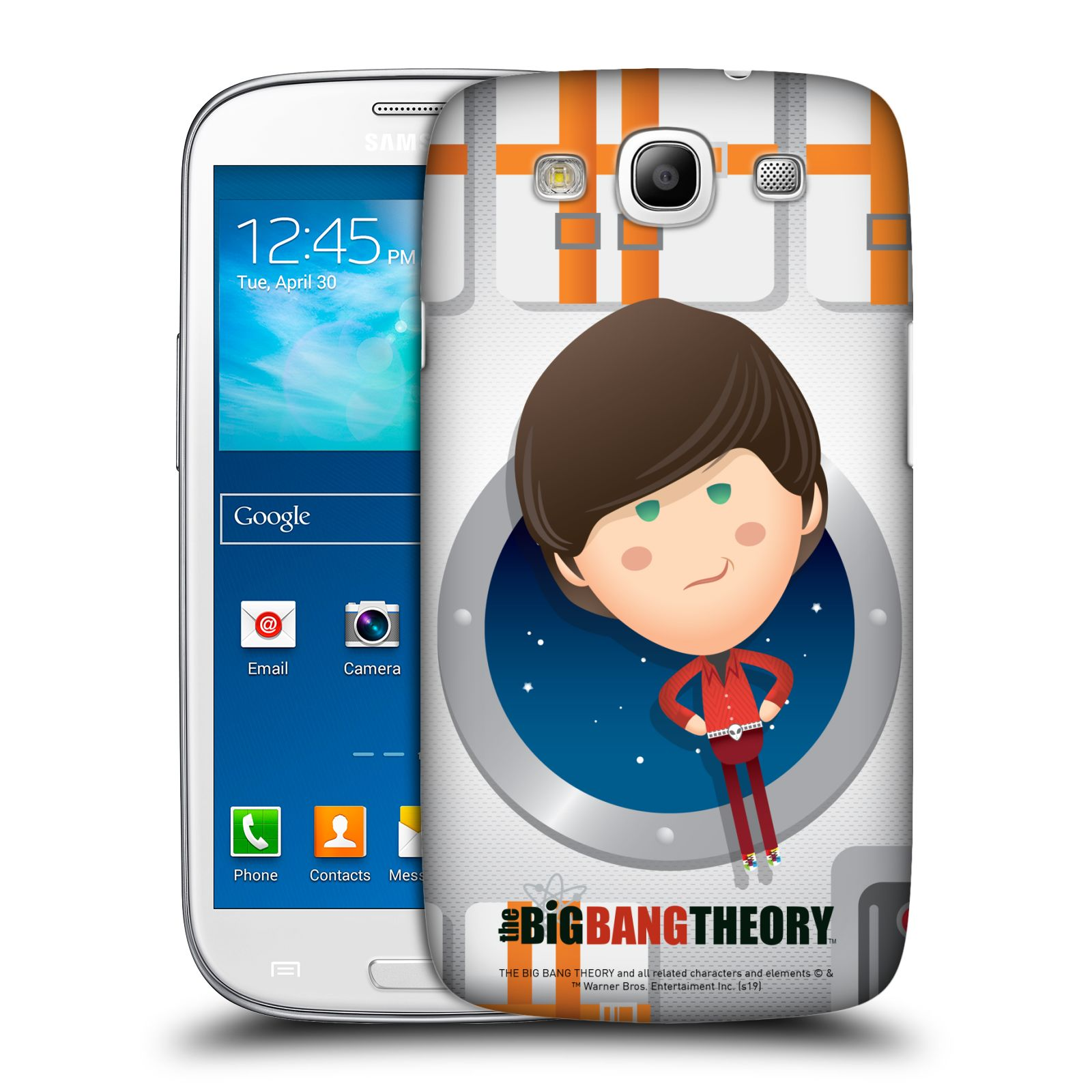Pouzdro na mobil Samsung Galaxy S3 - HEAD CASE - Big Bang Theory - kreslený Howard
