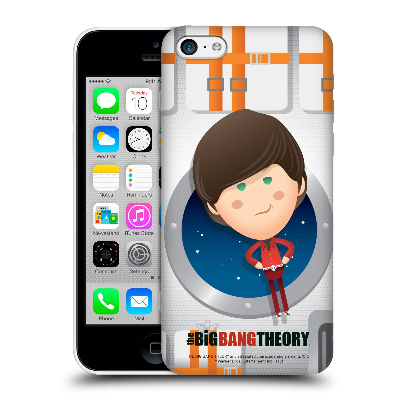 Pouzdro na mobil Apple Iphone 5C - HEAD CASE - Big Bang Theory - kreslený Howard
