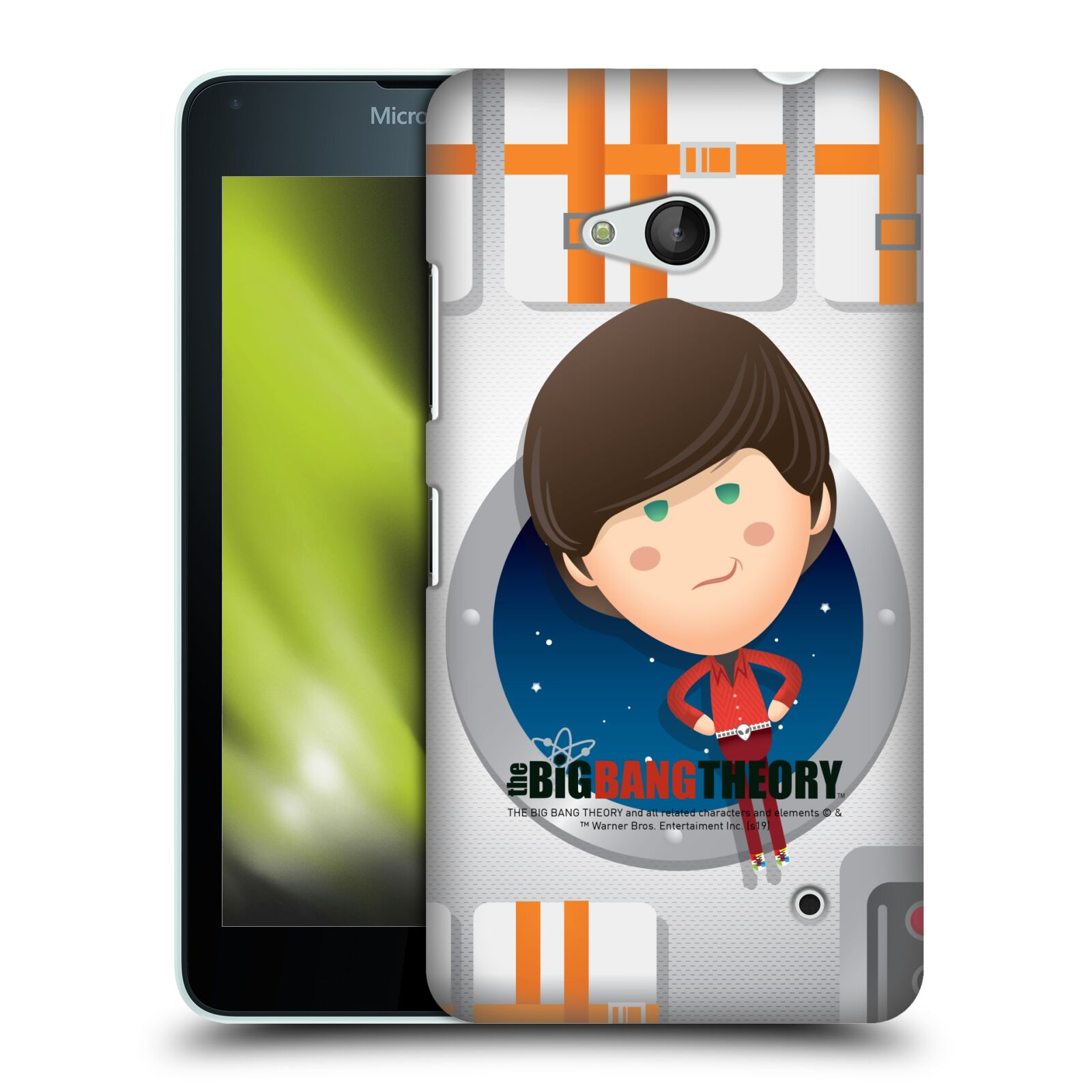 Pouzdro na mobil Microsoft Lumia 640 / 640 DUAL SIM - HEAD CASE - Big Bang Theory - kreslený Howard