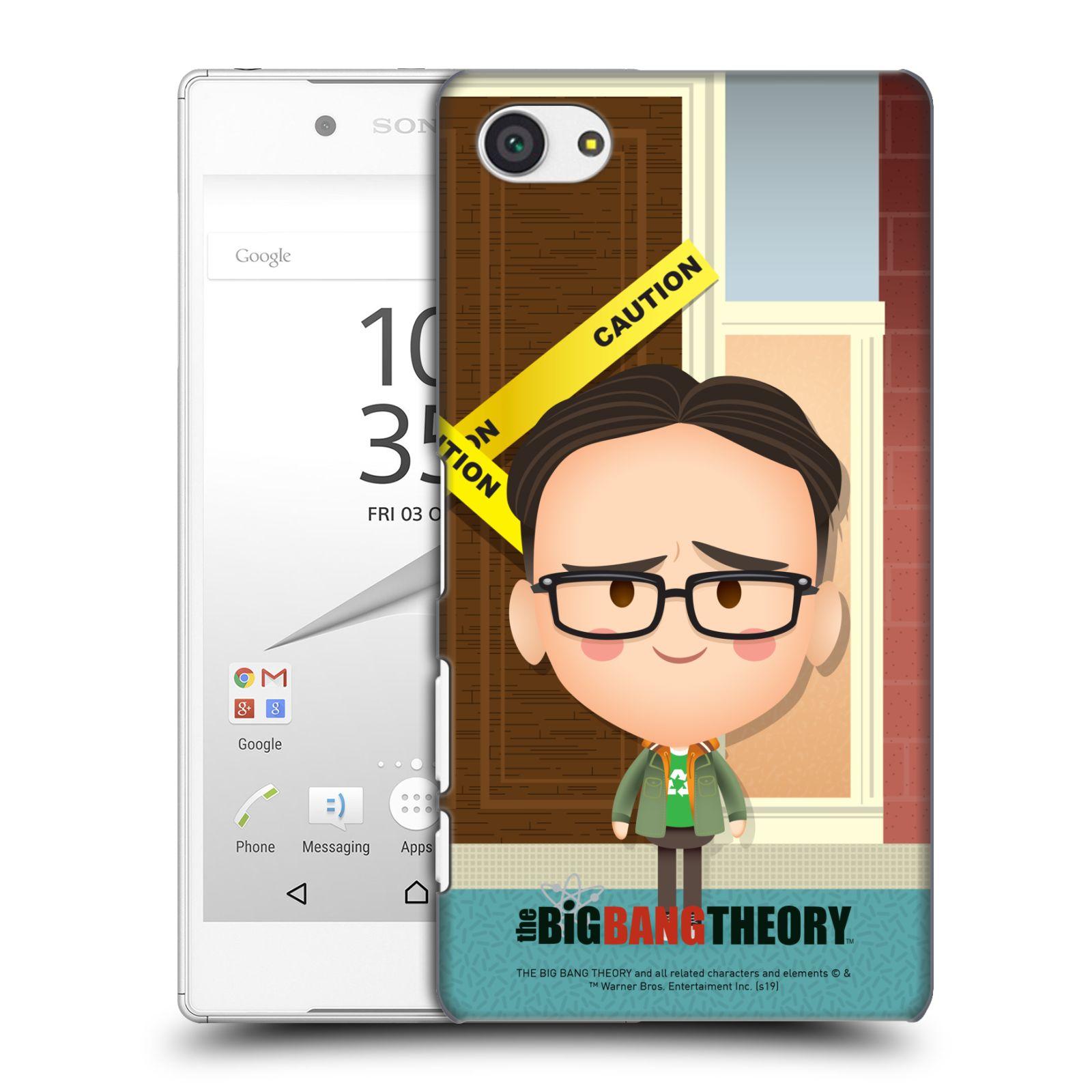 Pouzdro na mobil Sony Xperia Z5 COMPACT - HEAD CASE - Big Bang Theory - kreslený Leonard